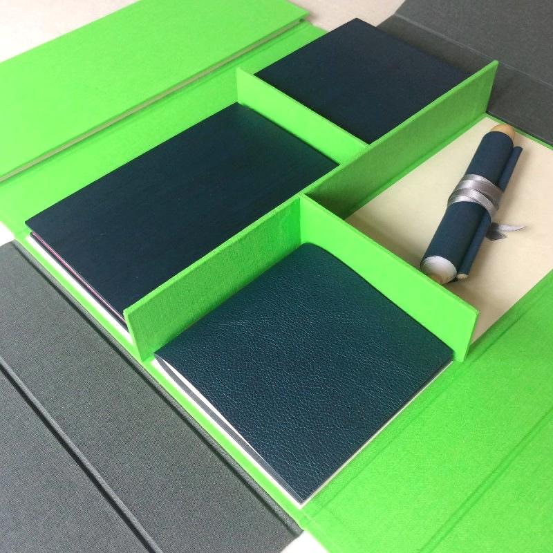 Handmade books in handmade box for Goethe Institut