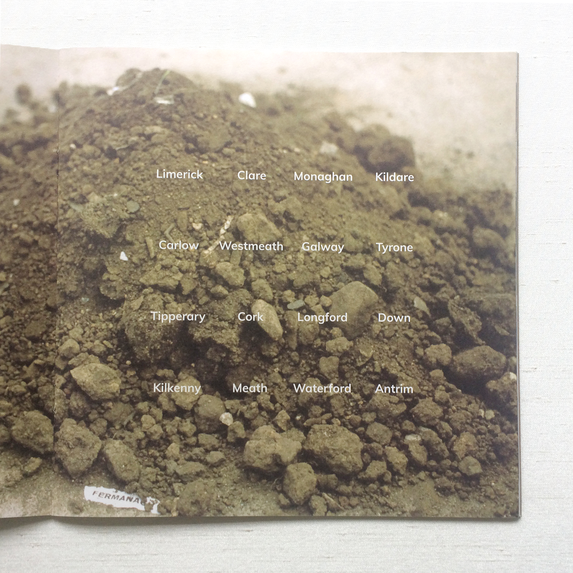 Soil from 32 counties of Ireland - Artist Patricia McKenna Soil art project