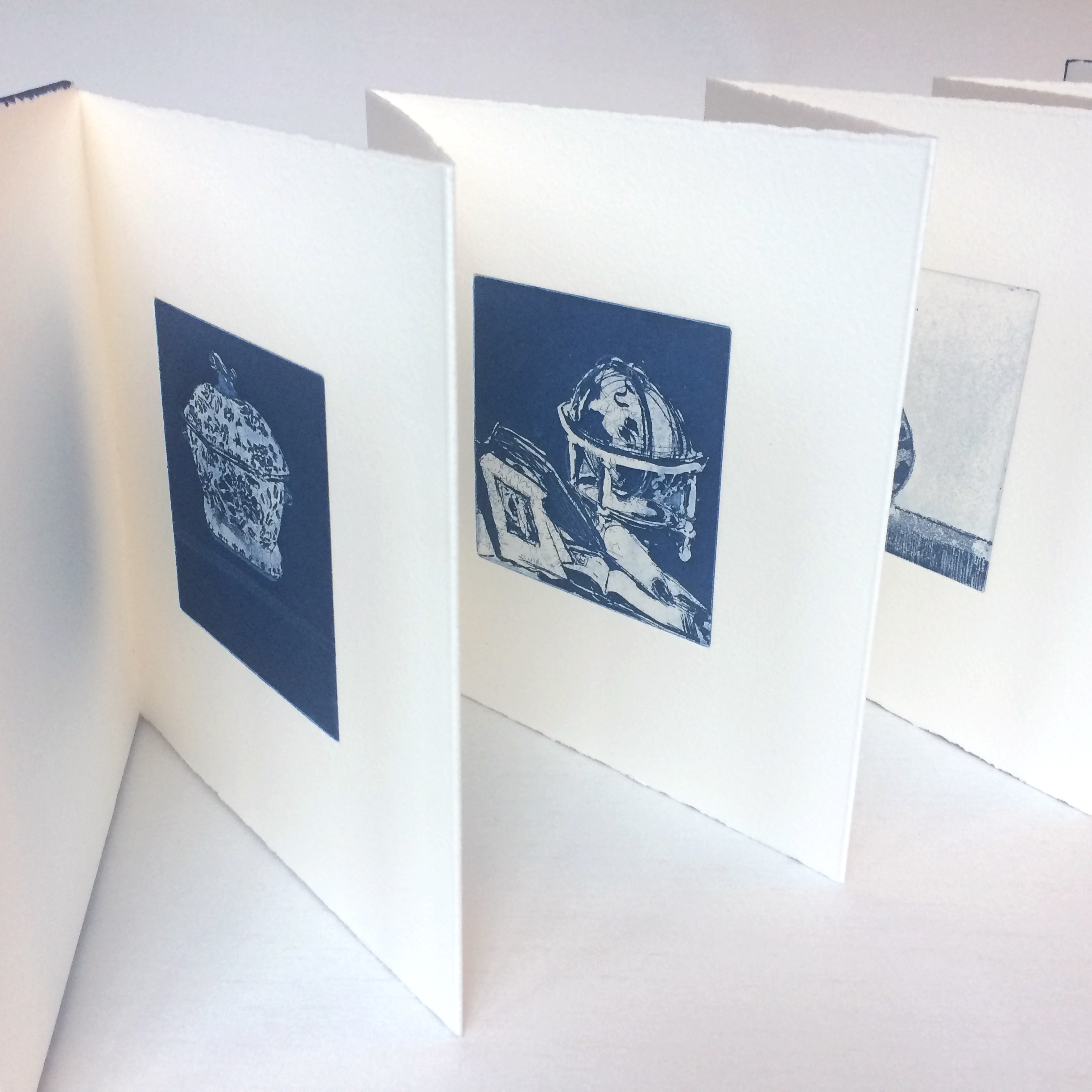 Handmade artist's book with original prints by Ruth O'Donnell