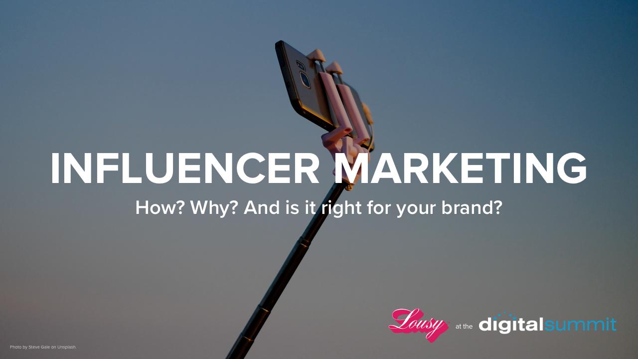 Influencer Marketing presentation by Lousy title slide
