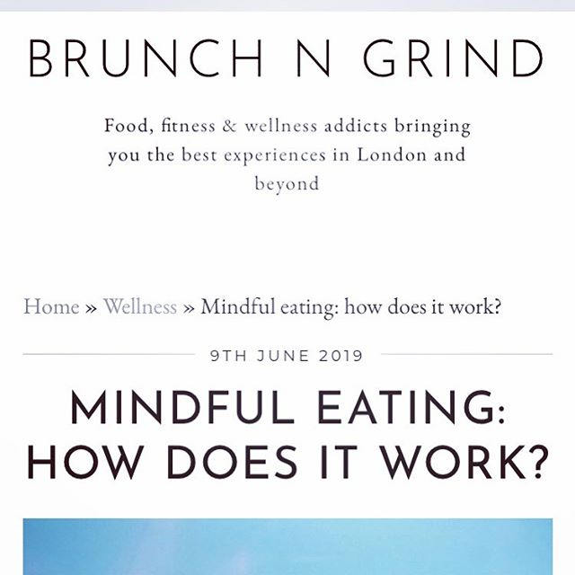 I was interviewed by @brunchgrind about mindful eating - what is it, how can it benefit you and debunking some myths. Time to ditch the diet mentality, be kind to ourselves and embrace a better relationship with food ☺️ Check it out here: https://www.brunchngrind.co.uk/wellness/mindful-eating-how-does-it-work/ . . . . #healthateverysize #weightstigma #weightbias #selfcare #dowhatyoulove #hunger #mindful #mindfulness #mindfuleating #enjoyment #food #internalcues #noguilt #internalcuesnotexternalrules #intuitive #intuitiveeating #dietitian #nodiets #mindfuleatingpractise #lovewhatyoueat #dietitiansagainstdiets #haes #selfcompassion #diets #gratitude #dietmentality #cravings #eatinghabits