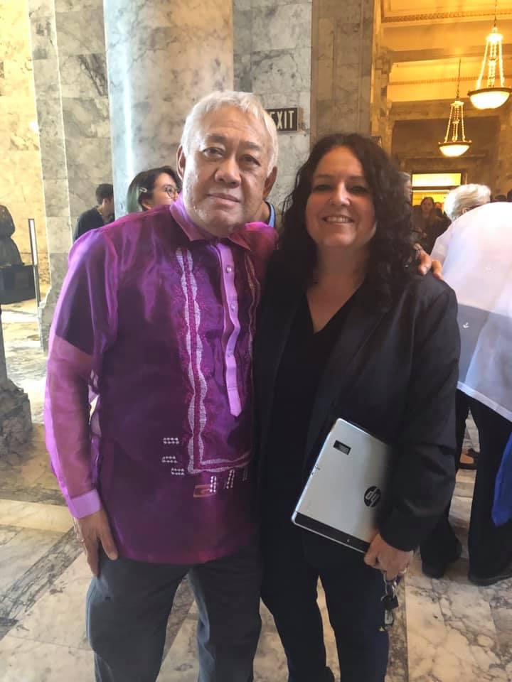 Nina pictured with MLK Medal of Distinguished Service Award winner, Frank Irigon