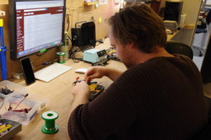 Here is Chris putting the Absolute Destruction pedals together.