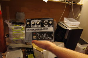 This is a rare Crush Modulator Death By Audio pedal that was sent in for repair.