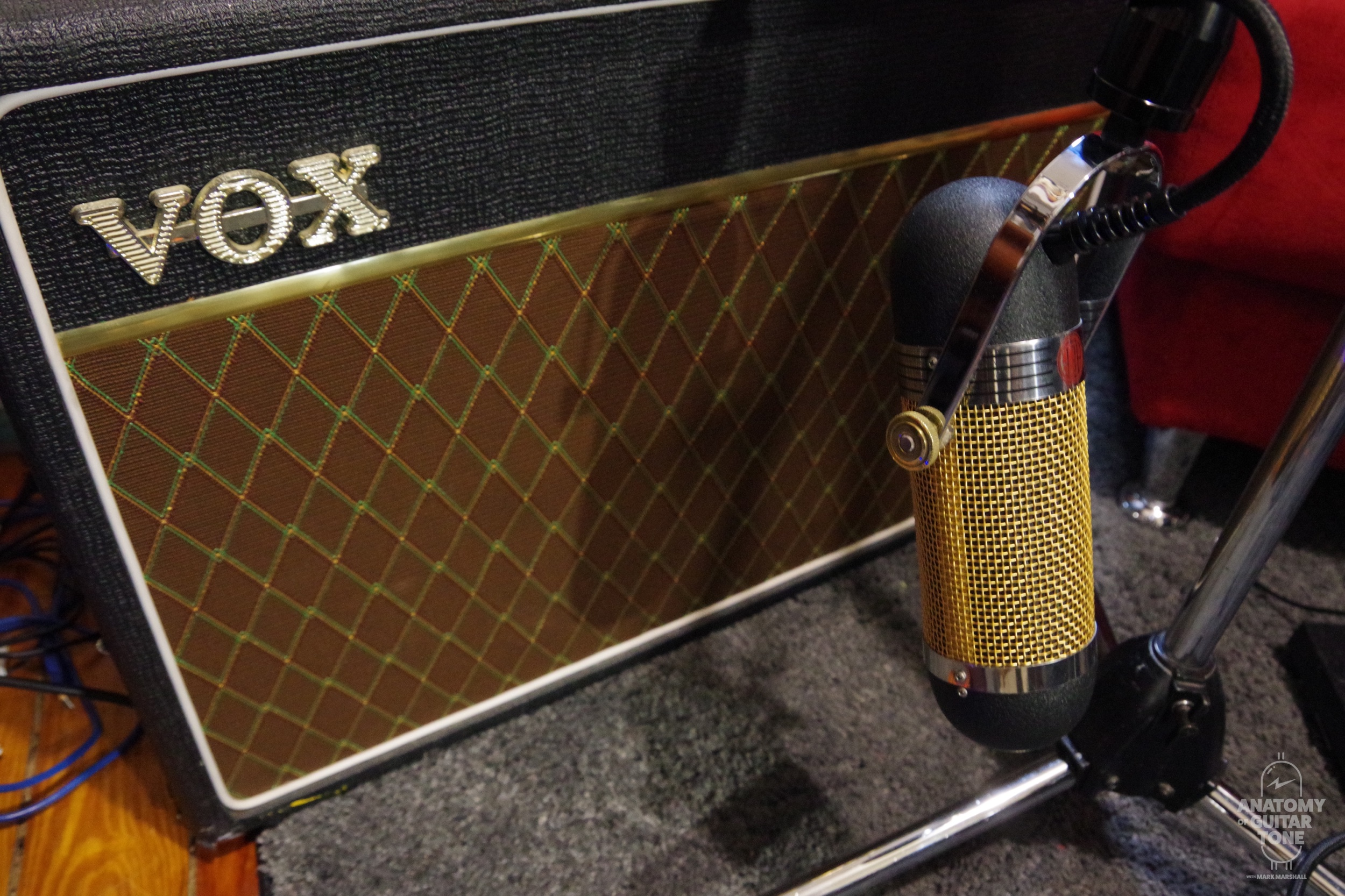Vox AC15 and AEA A840 ribbon mic