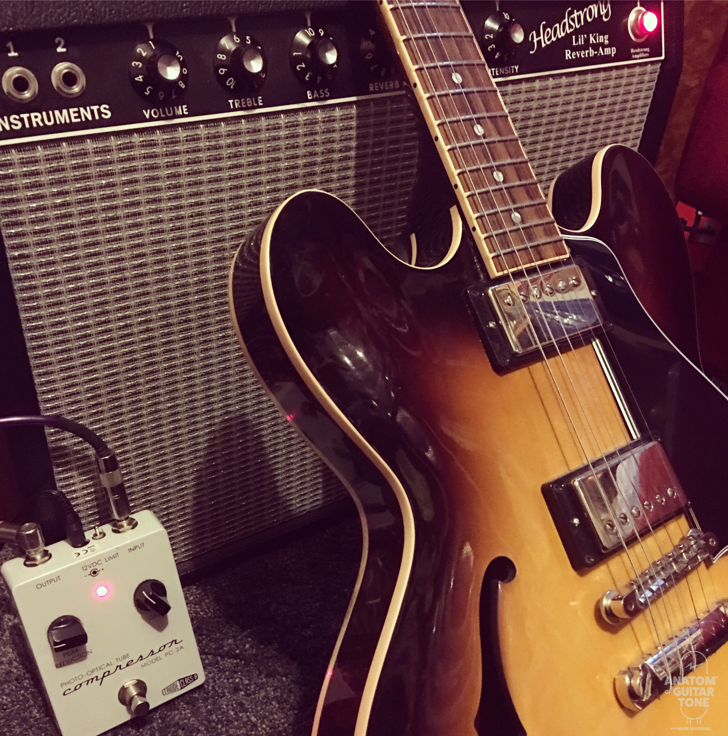 Gibson' ES-335 with Florence pickups, Effectrode PC-2A and Headstrong Lil King Reverb