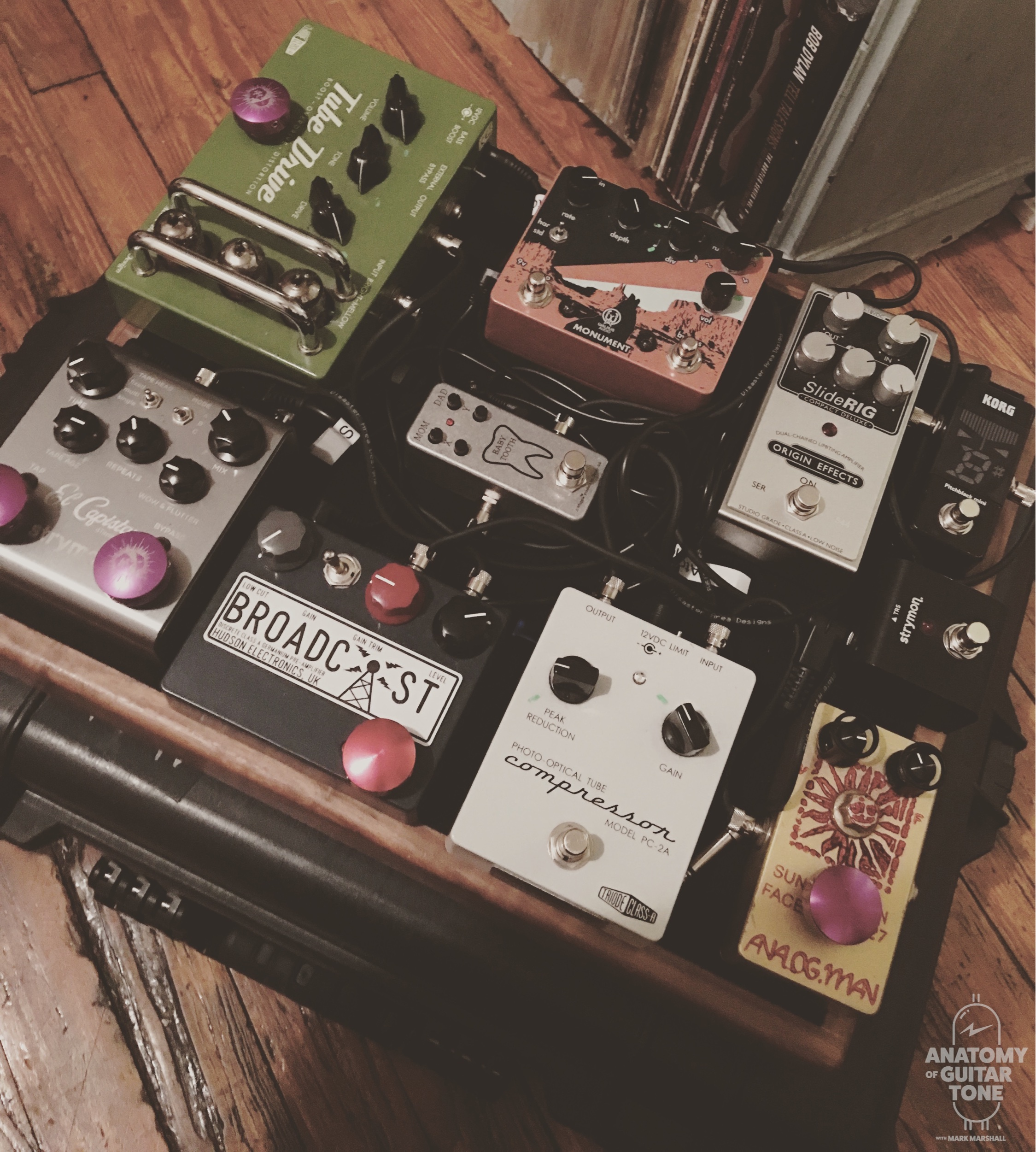 pedalboard I put together for an Amy Helm tour