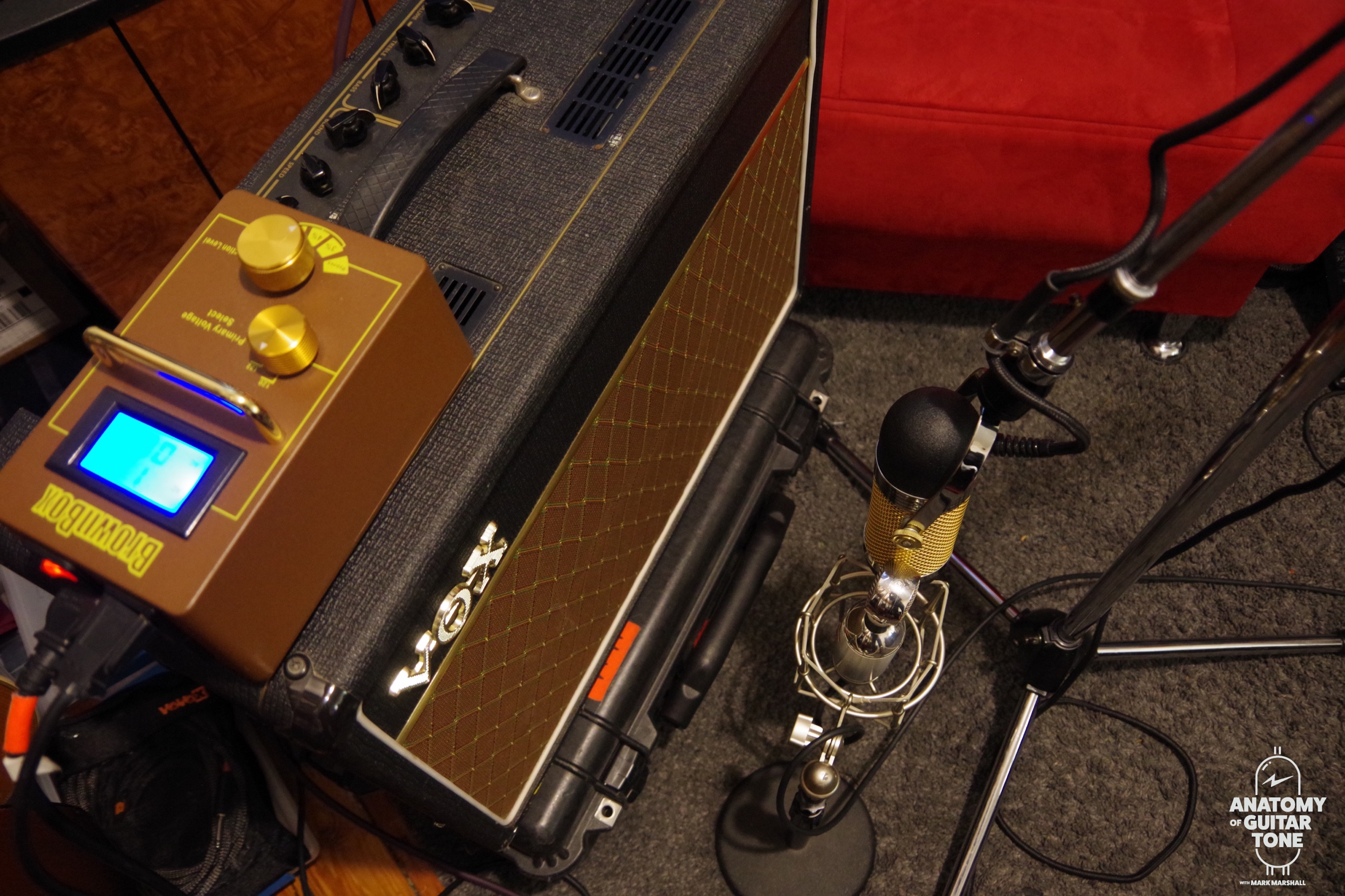 Brown Box with a Vox AC15
