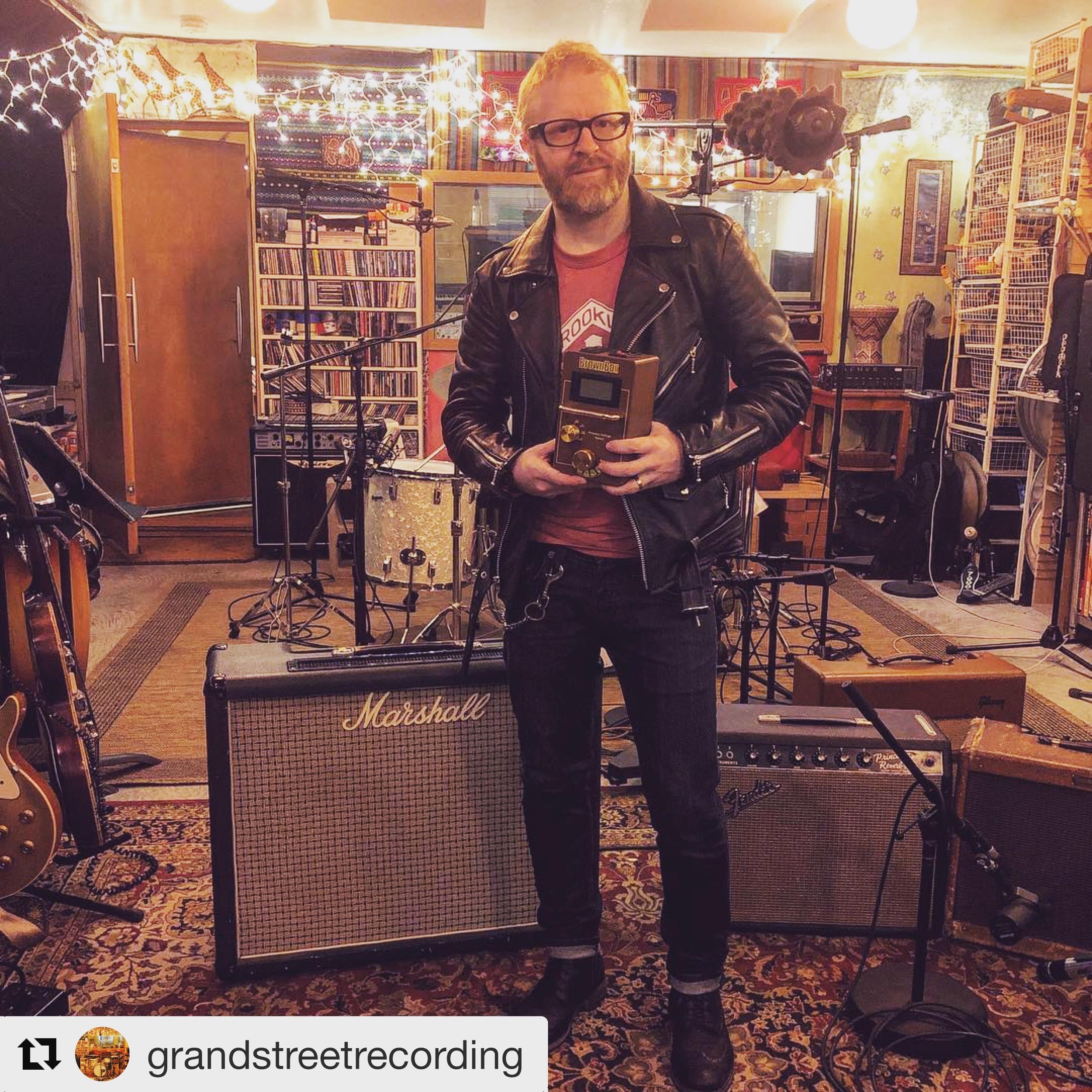 Mark Marshall at Grand Street Recording in Brooklyn, NYC