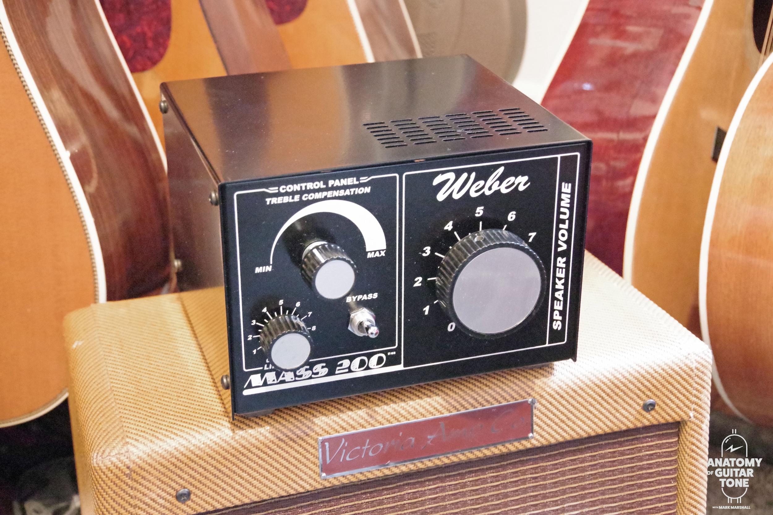 Weber Mass 200 attenuator and a Victoria 518 amp