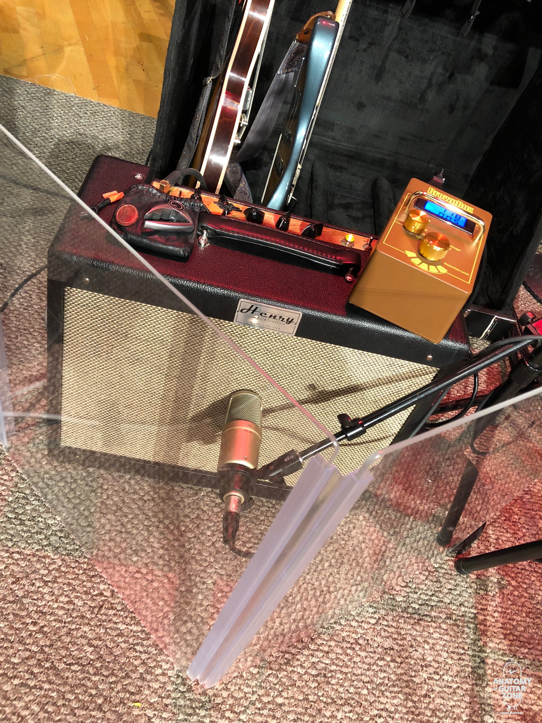 My setup for a Mountain Stage recording