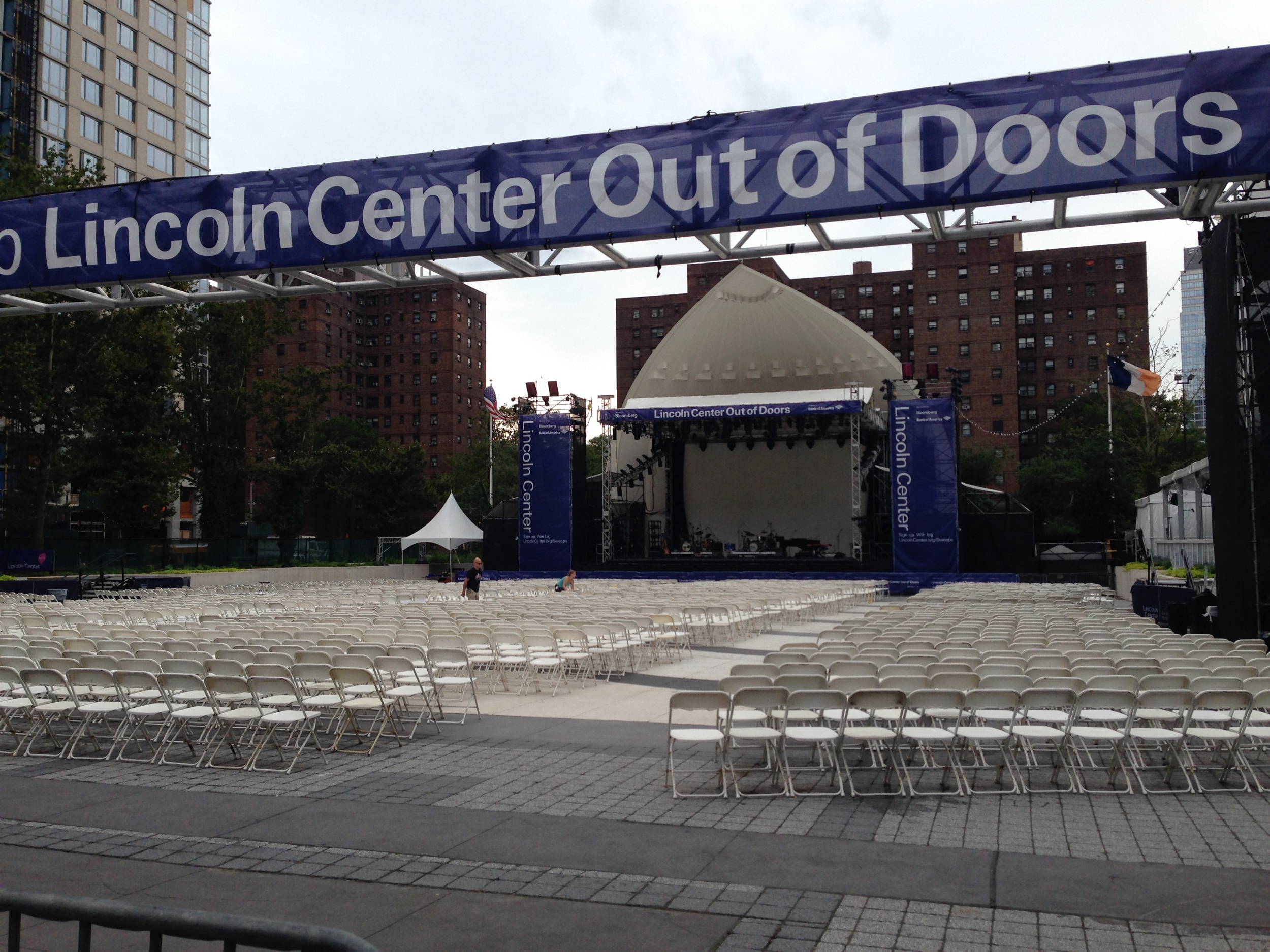 Lincoln Center Outdoors where I played with Nation Beat