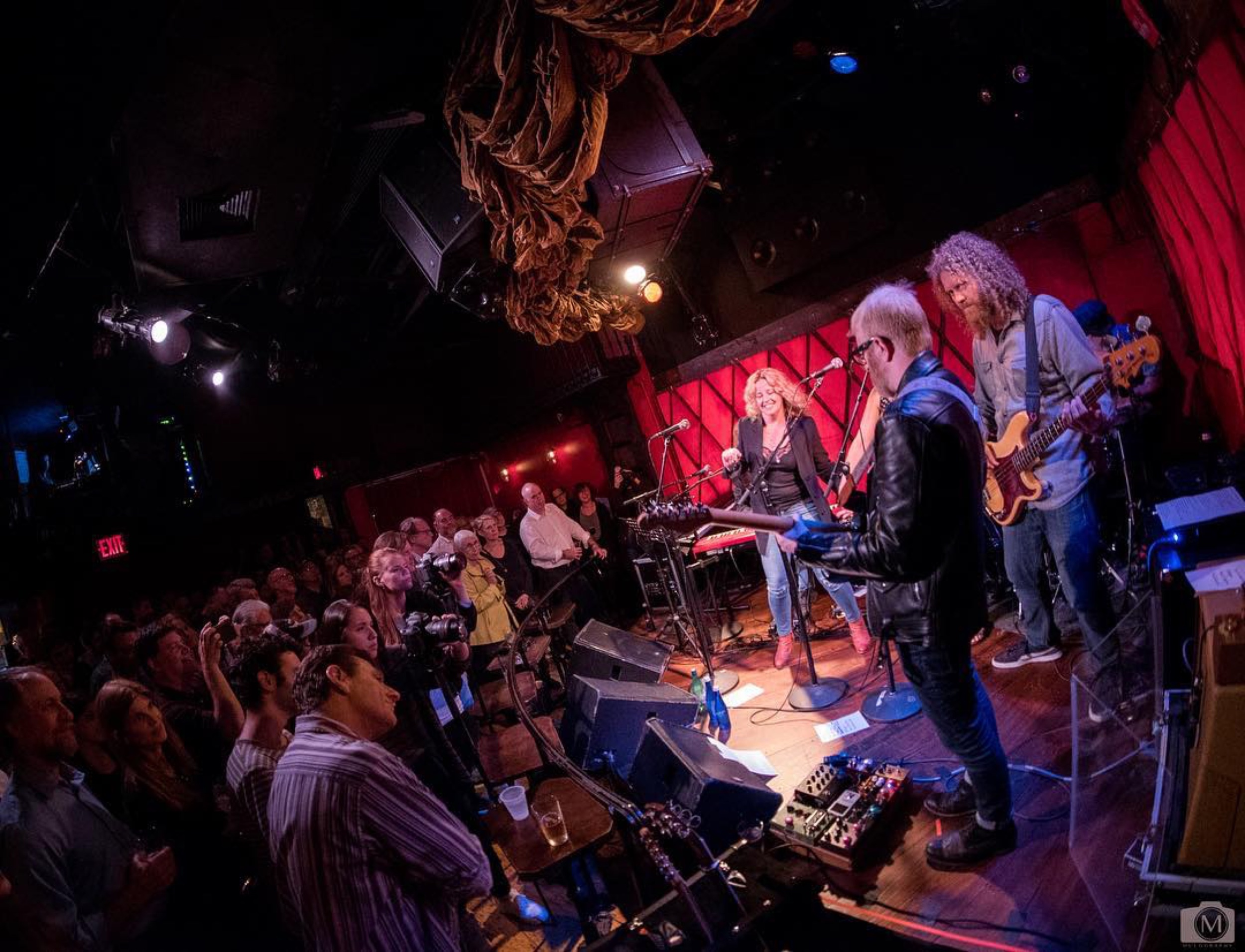 Playing at Rockwood Music Hall in NYC which was a live recording for radio
