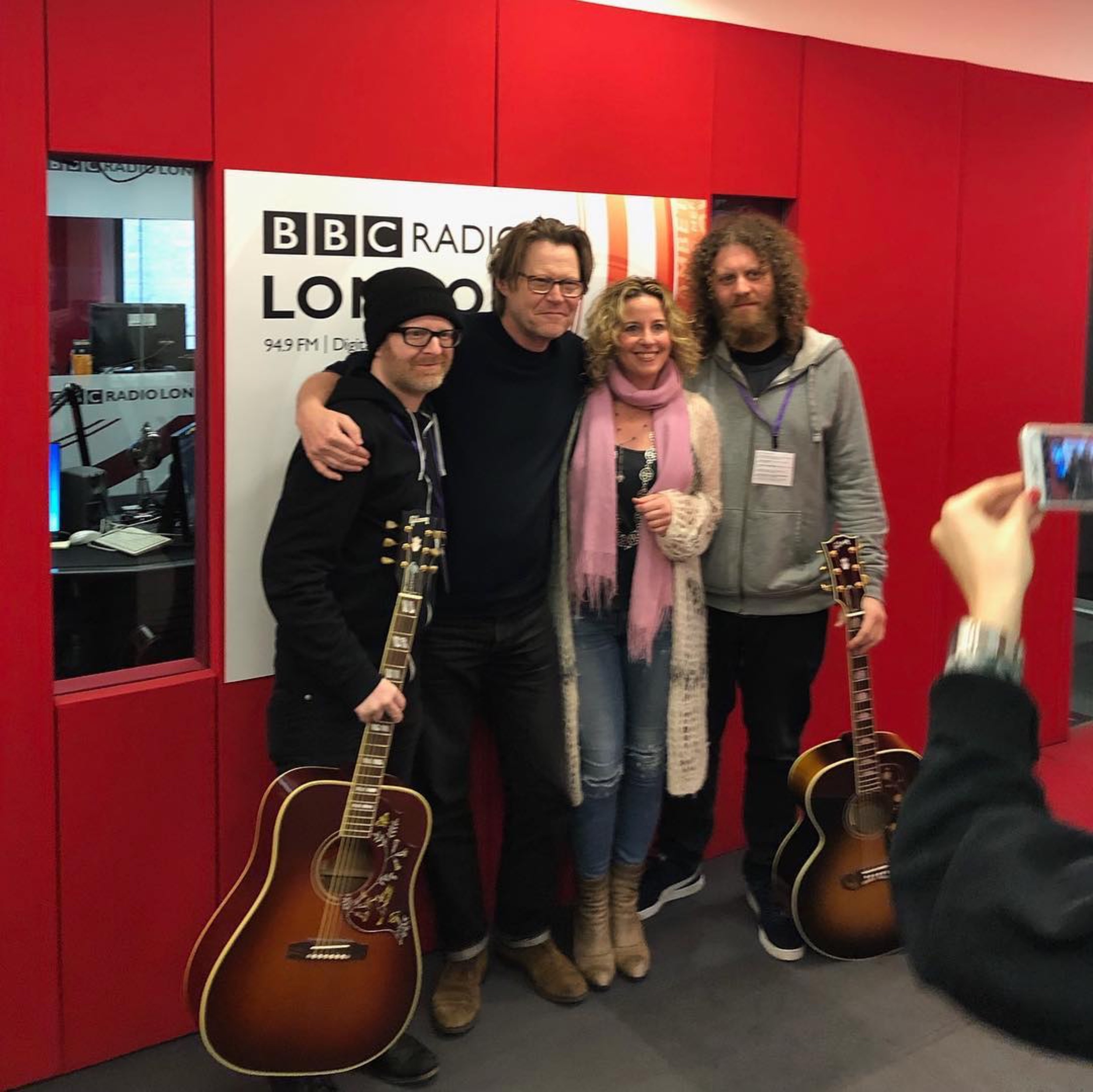 At the BBC in London with Amy Helm