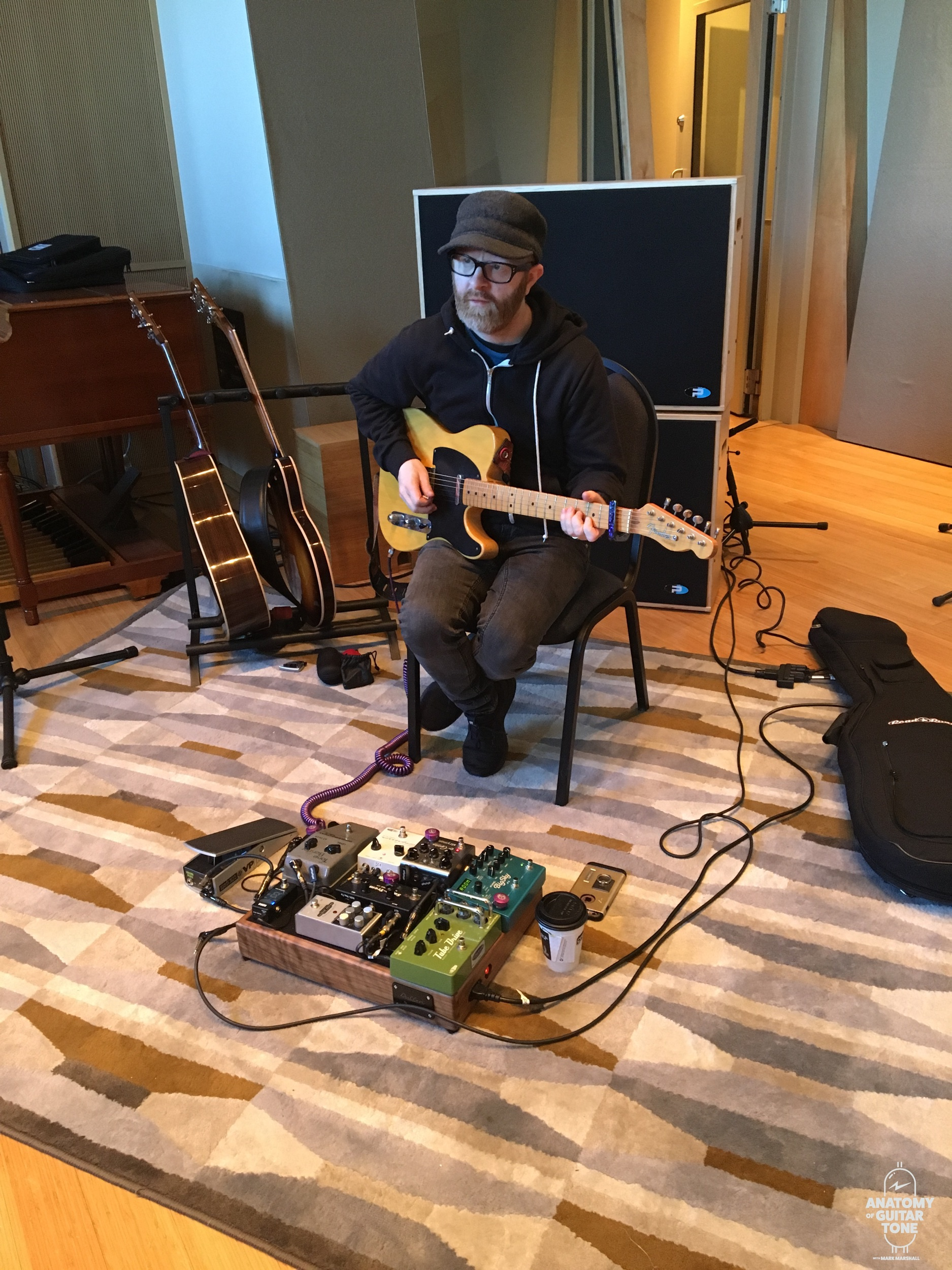 In the studio at Sweetwater giving a clinic on guitar sounds