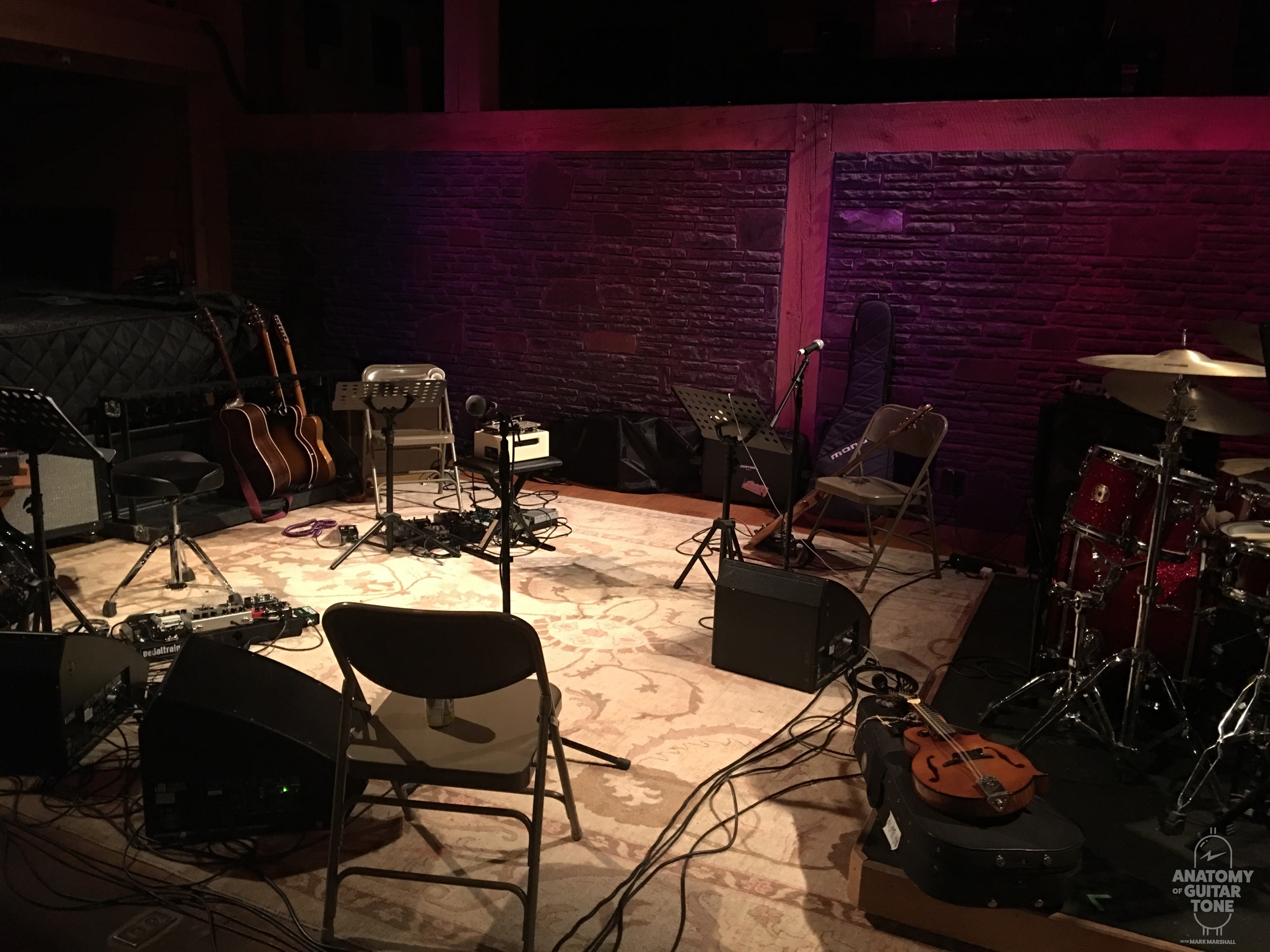 Rehearsal for a tour at Levon Helm Studions in Woodstoc,k NY