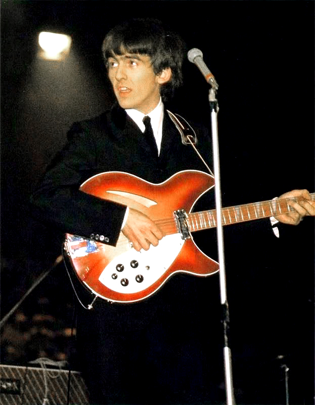 George Harrison Playing a 1963 Rickenbacker 360 12 string