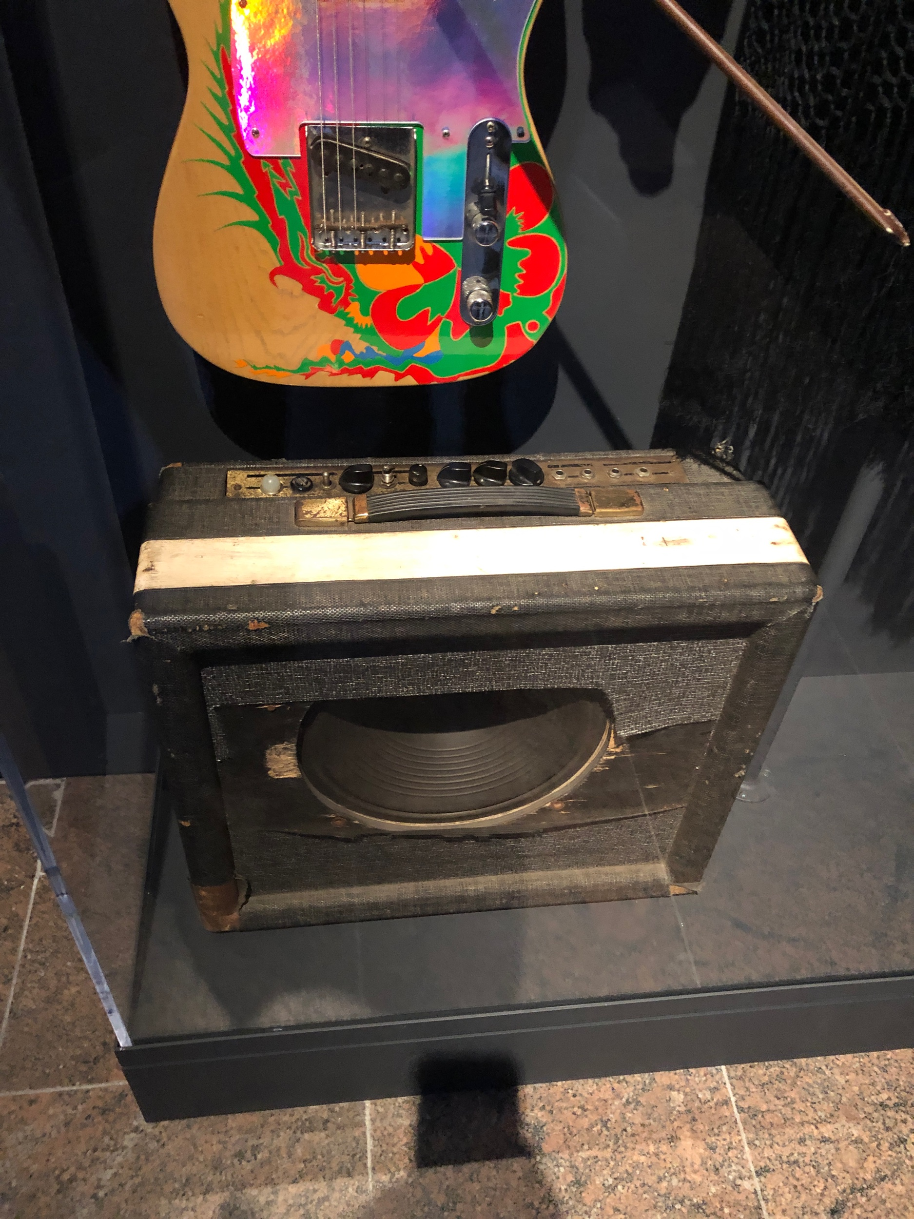 Jimmy Pages amp and guitar from Led Zeppelin I