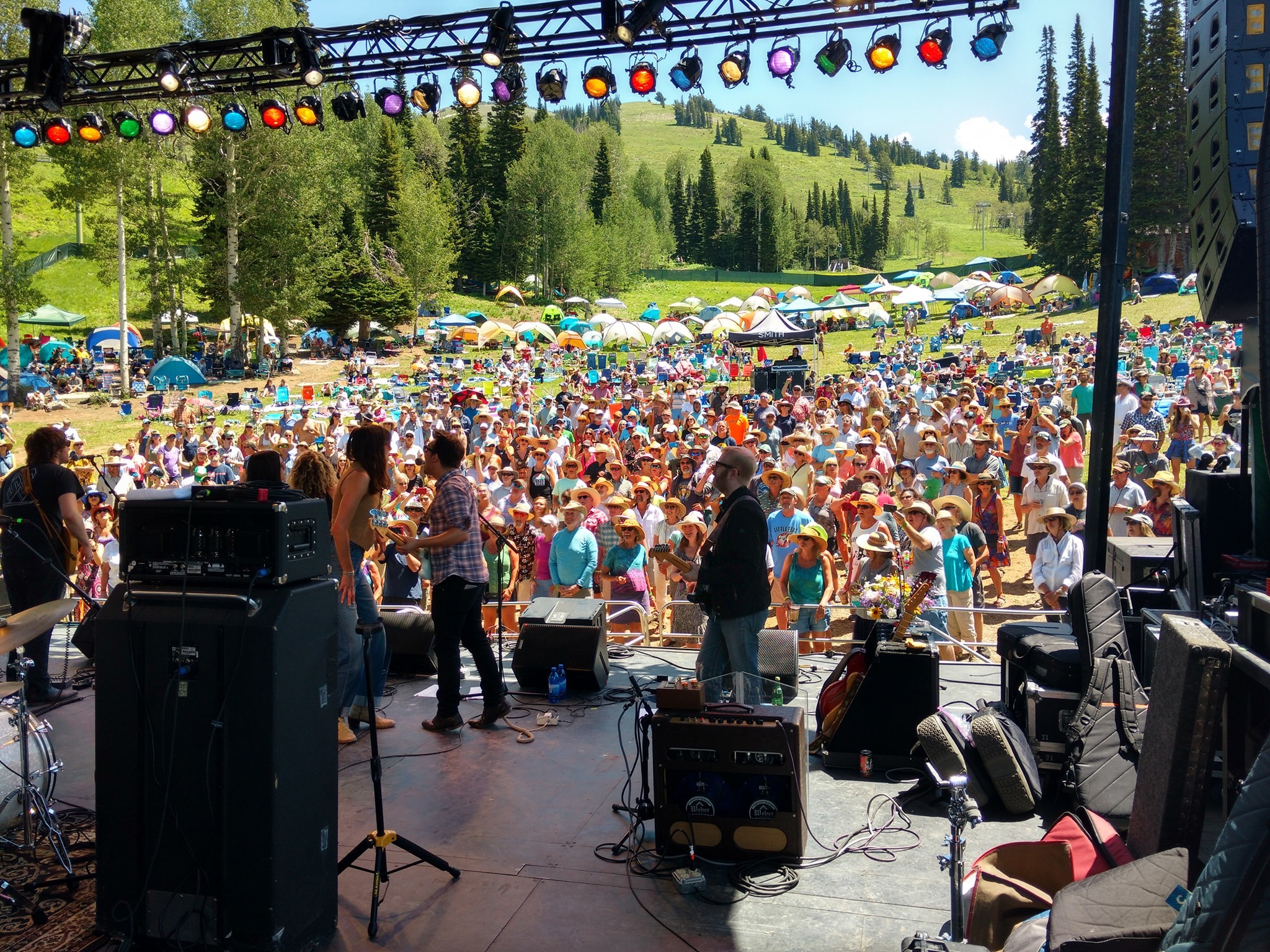 Plying the Targhee Festival in Wyoming