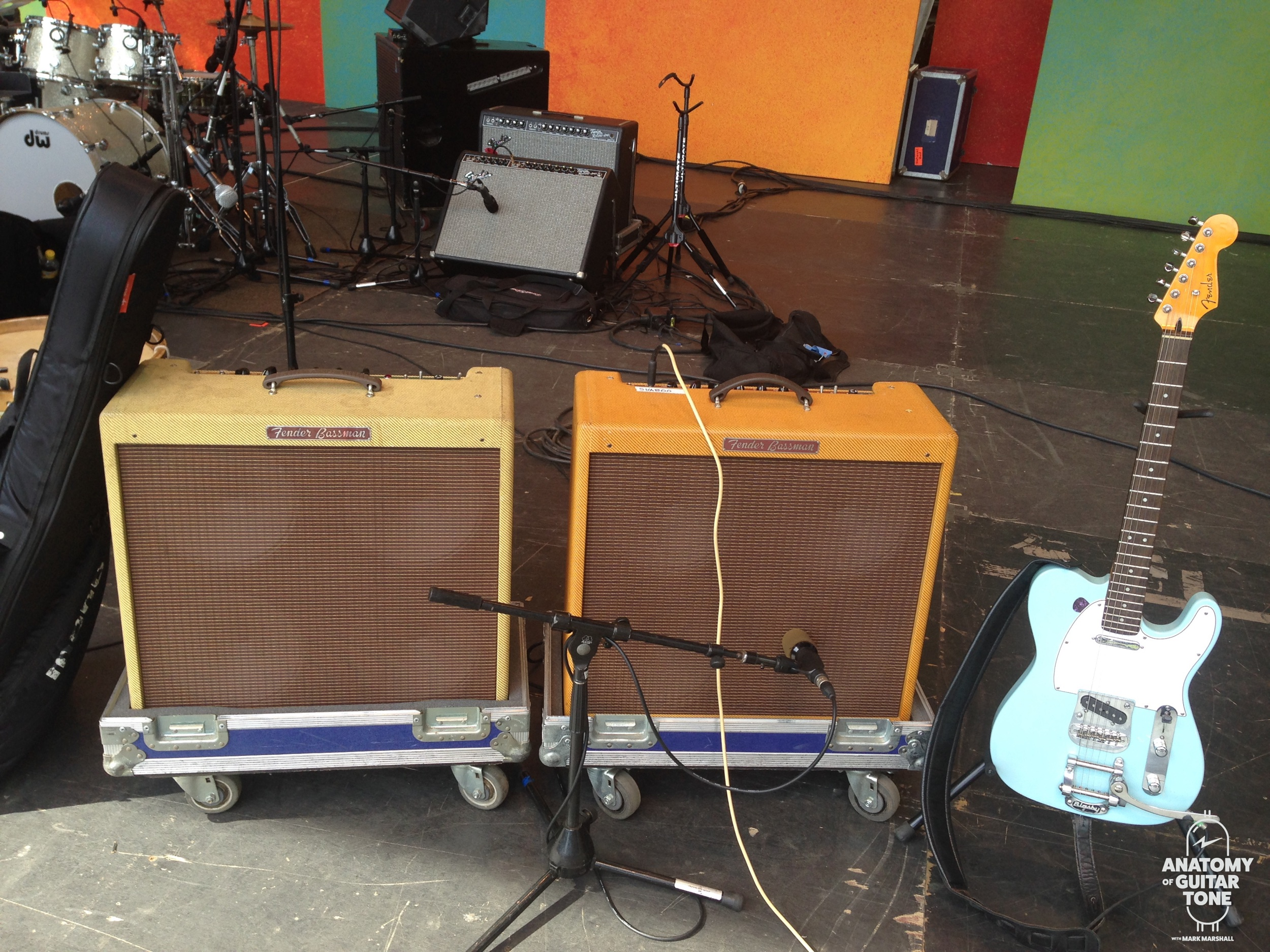 What many would classify as loud amps. Tale of Two Nations Tour with Nation Beat.