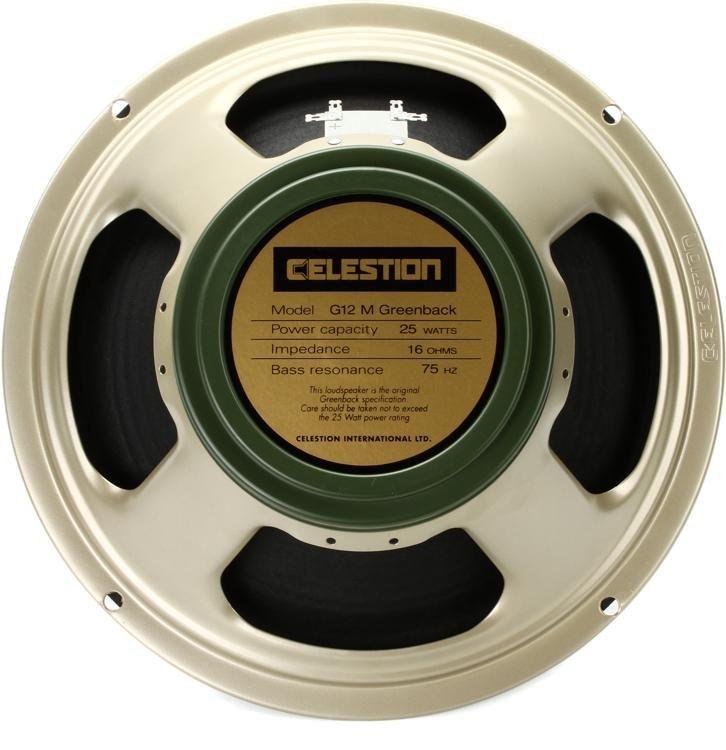 A 25 -watt Celestion Greenback 25 speaker