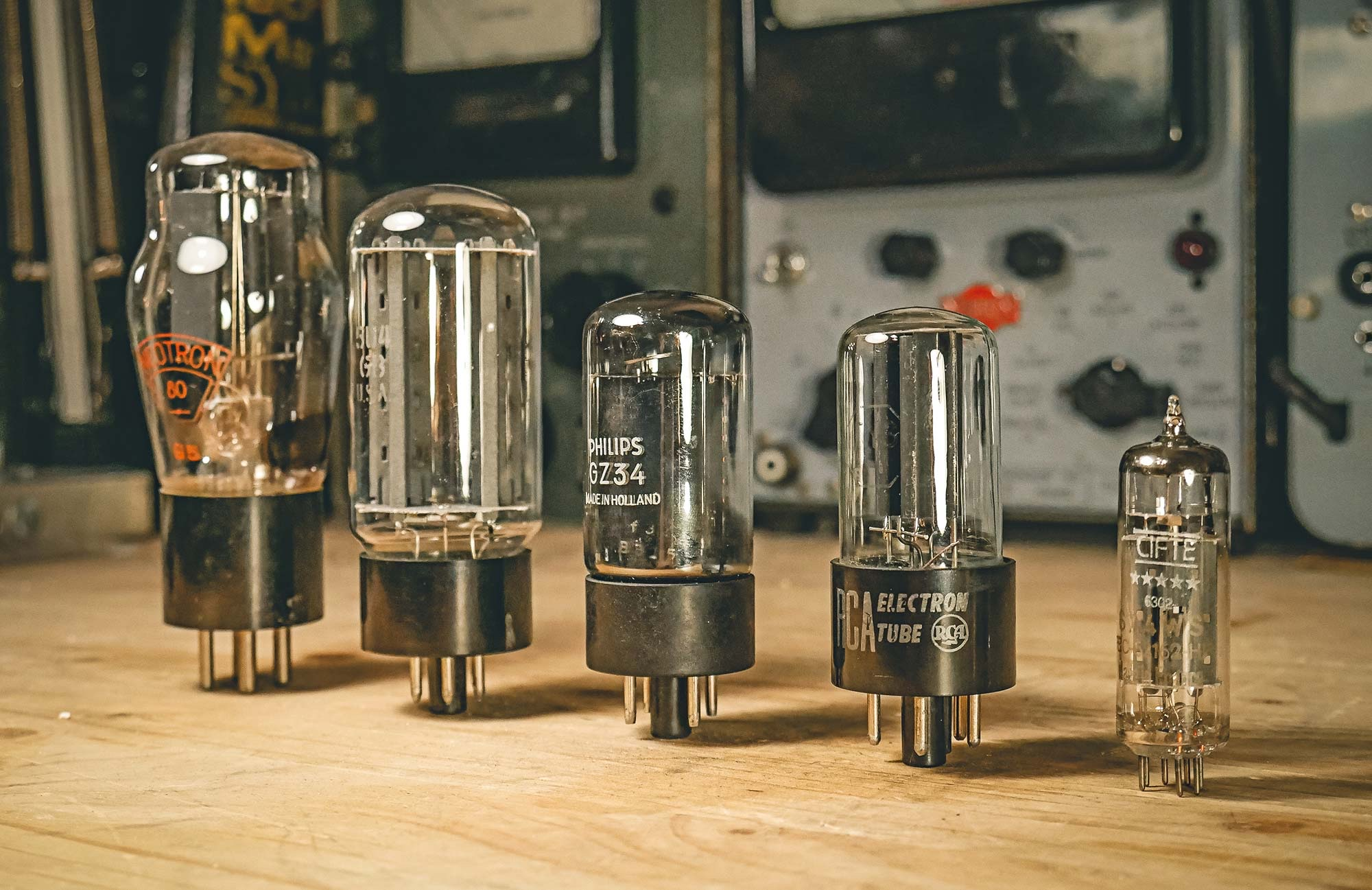 A collection of tube rectifiers