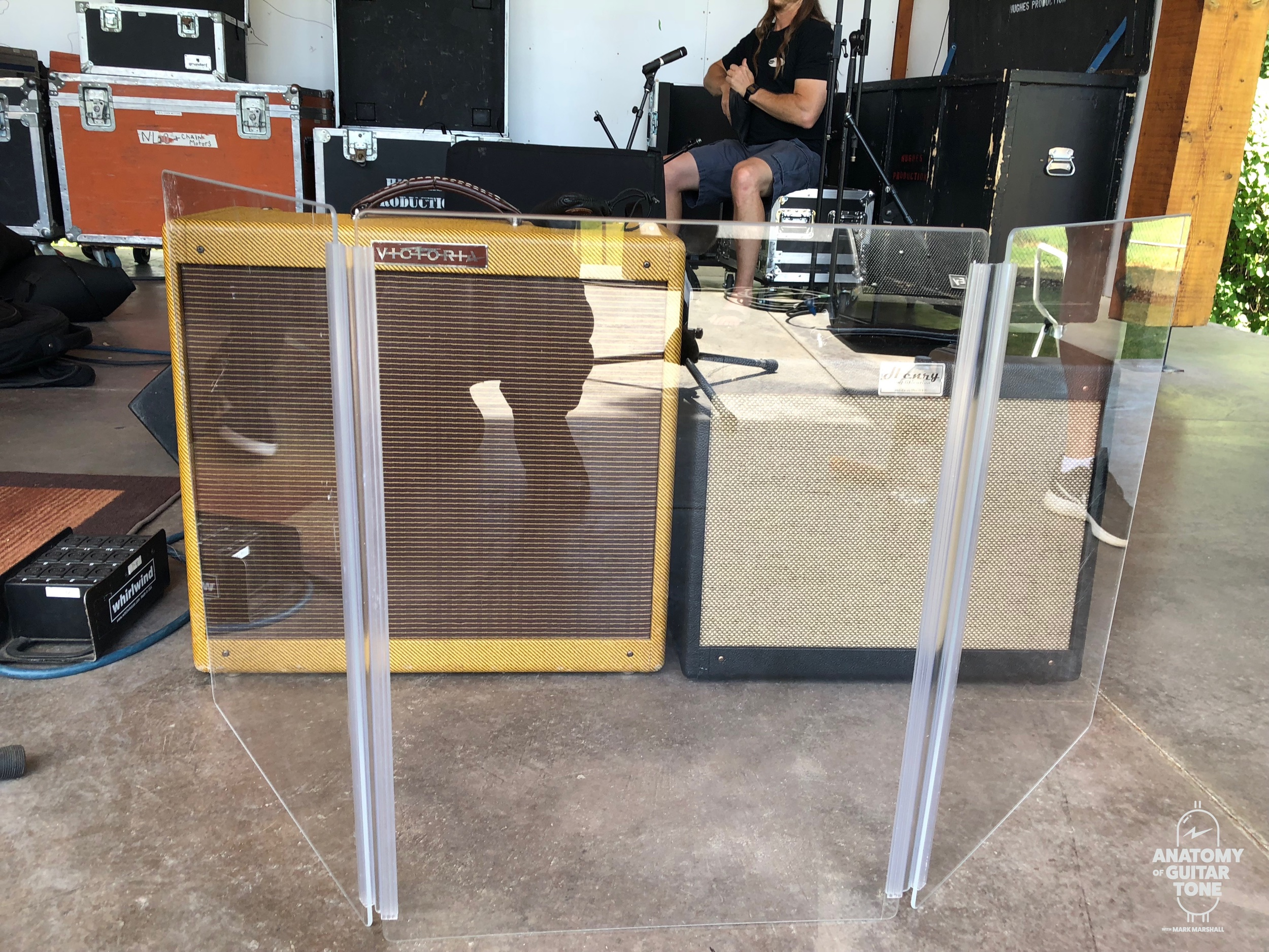 Plexiglass in front of my amps at a concert