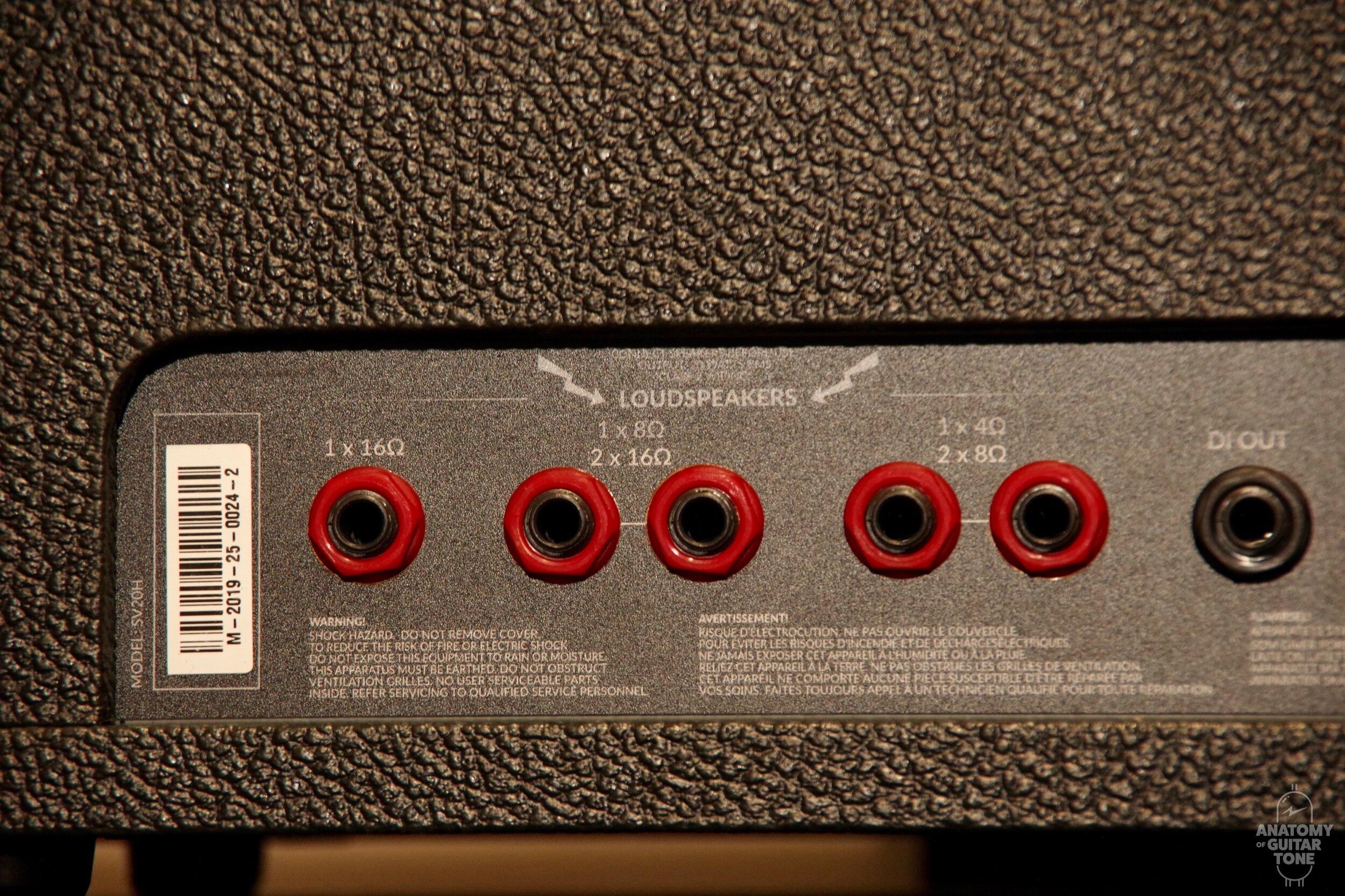 Rear panel of Marshall SV20H anatomy of guitar tone .jpeg