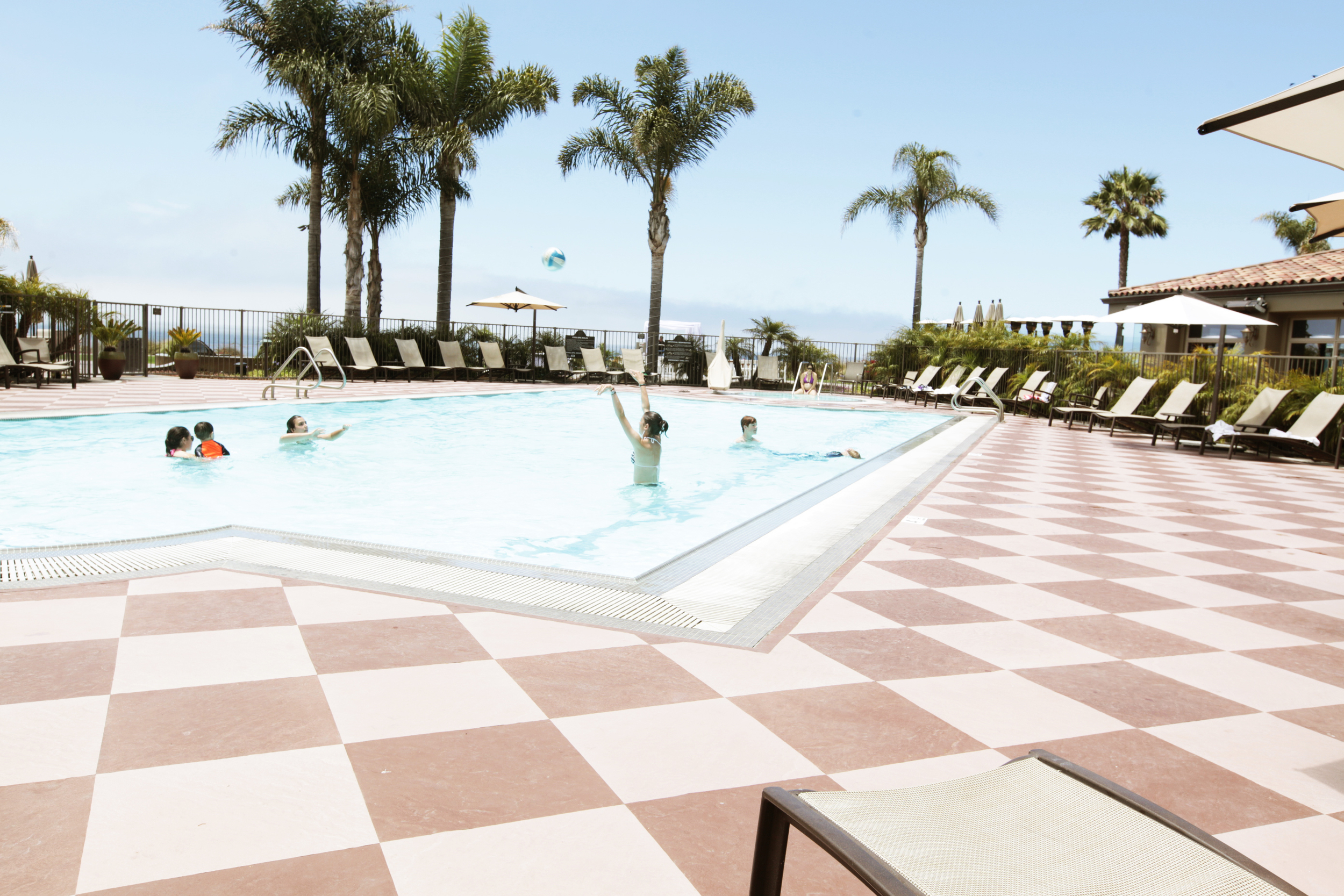 Mojave Slate and Sepia Slate, as seen at Dolphin Bay Resort and Spa in Pismo Beach, CA, will be among the Life Floor portfolio produced in the United States.