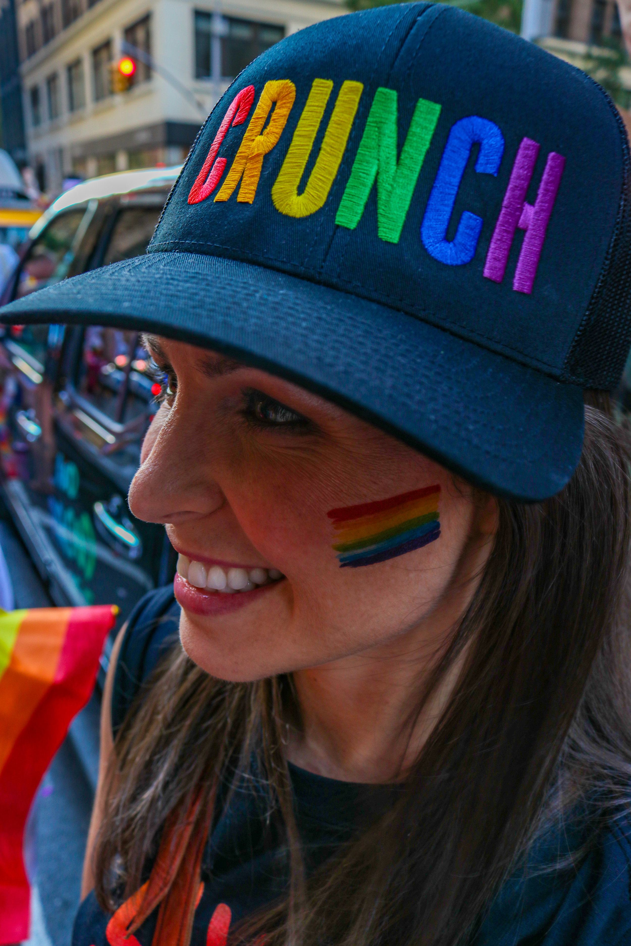 Crunch Fitness instructor at the 2019 NYC Pride Parade.