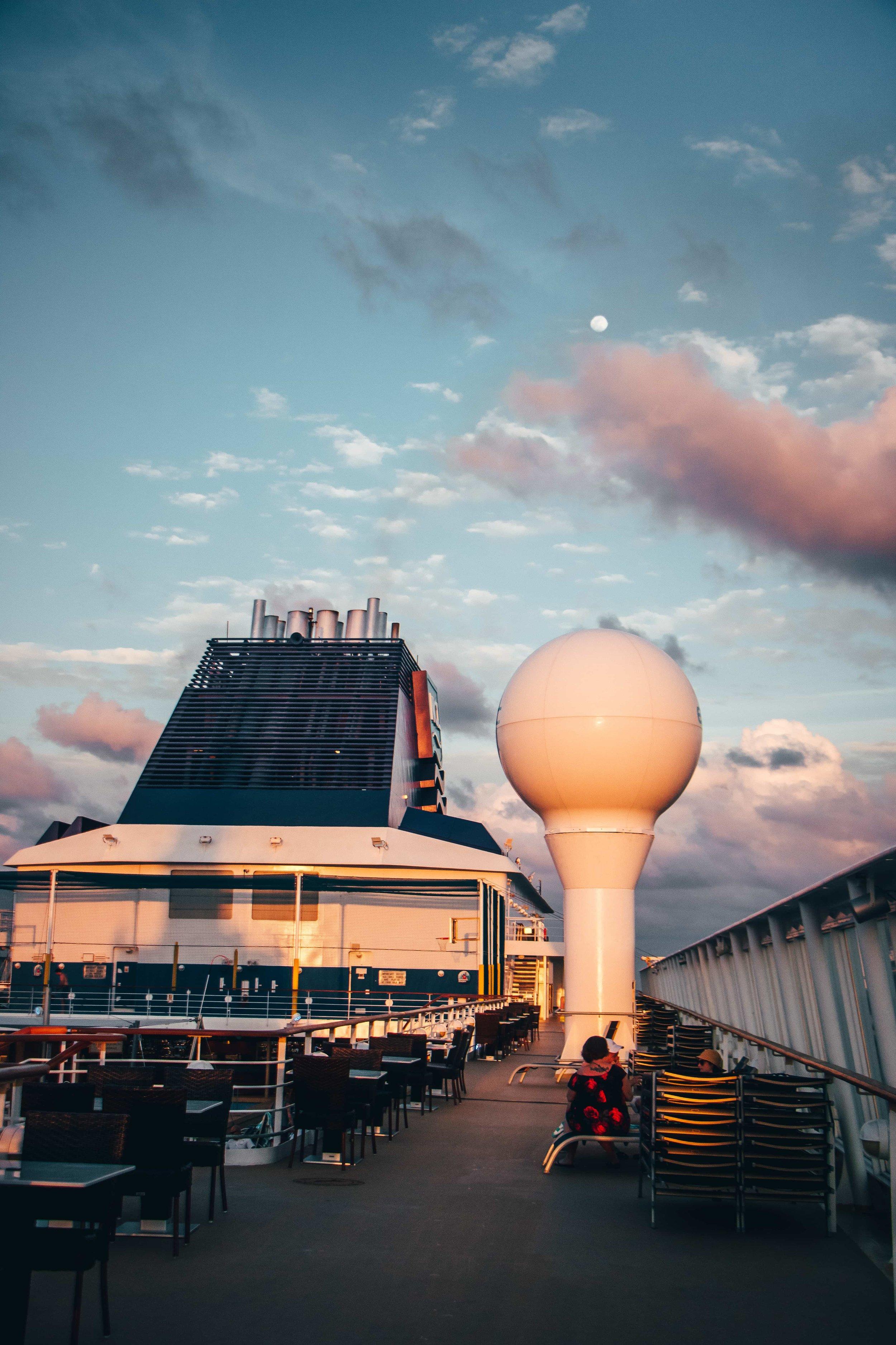 """Suset in Norwegian Ship"", Atlantic Ocean, <Travelhund>"