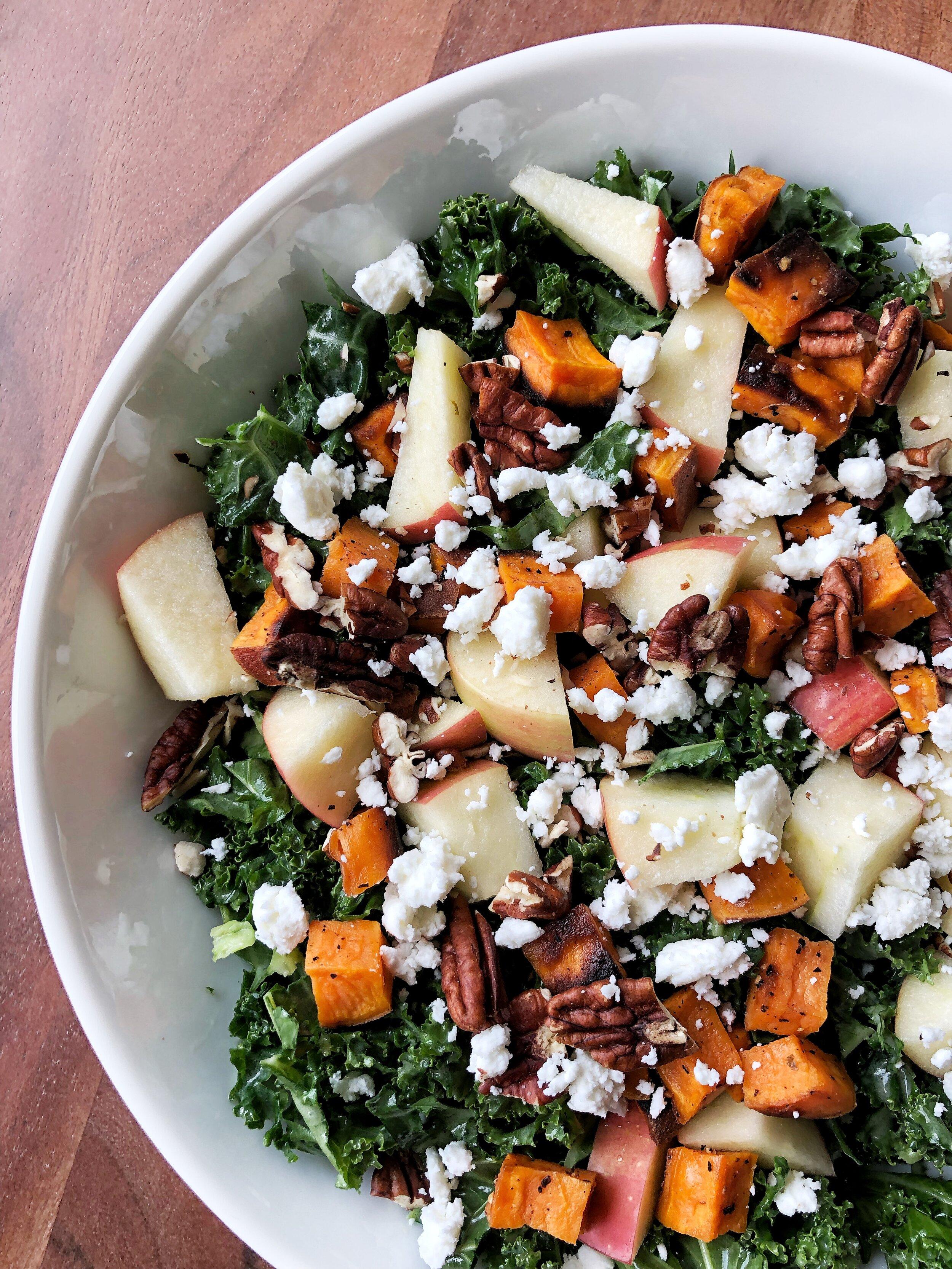 Fall Kale Tahini Salad 1