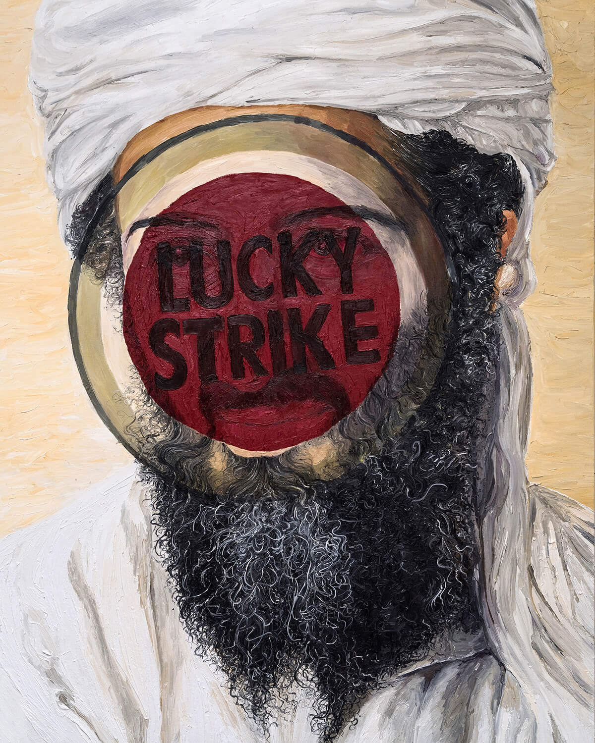 Like Strike Osama. Oil on canvas 100x150 cm