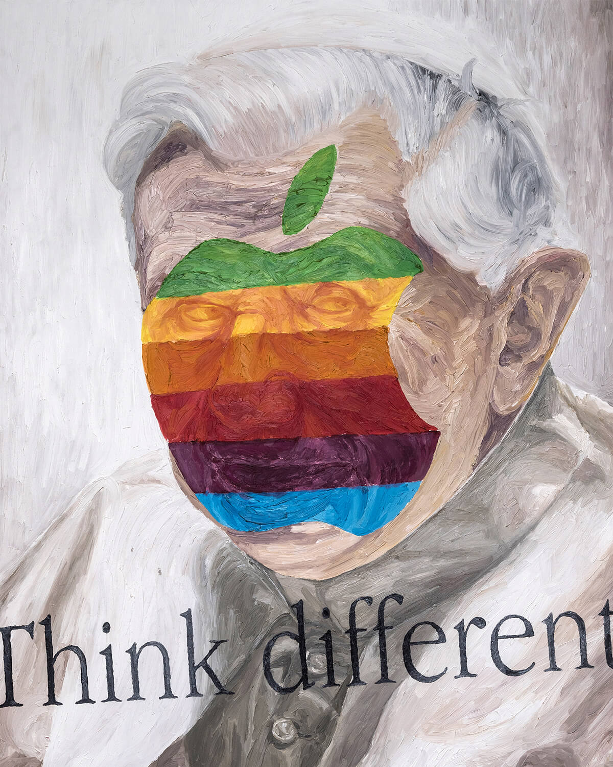 Think different Ratzinger. Oil on canvas 100x150 cm
