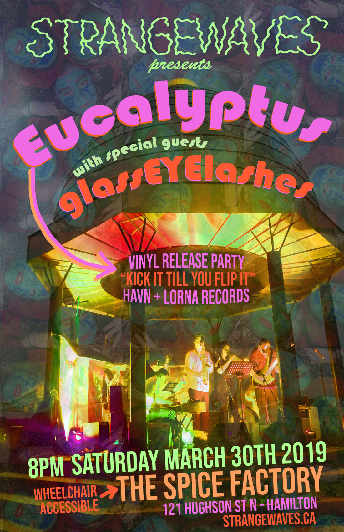 Eucalyptus (hamilton LP release), GlassEYElashes  @ The Spice Factory