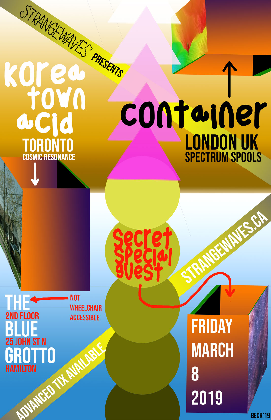 Container, Korea Town Acid, Doomsquad  @The Blue Grotto