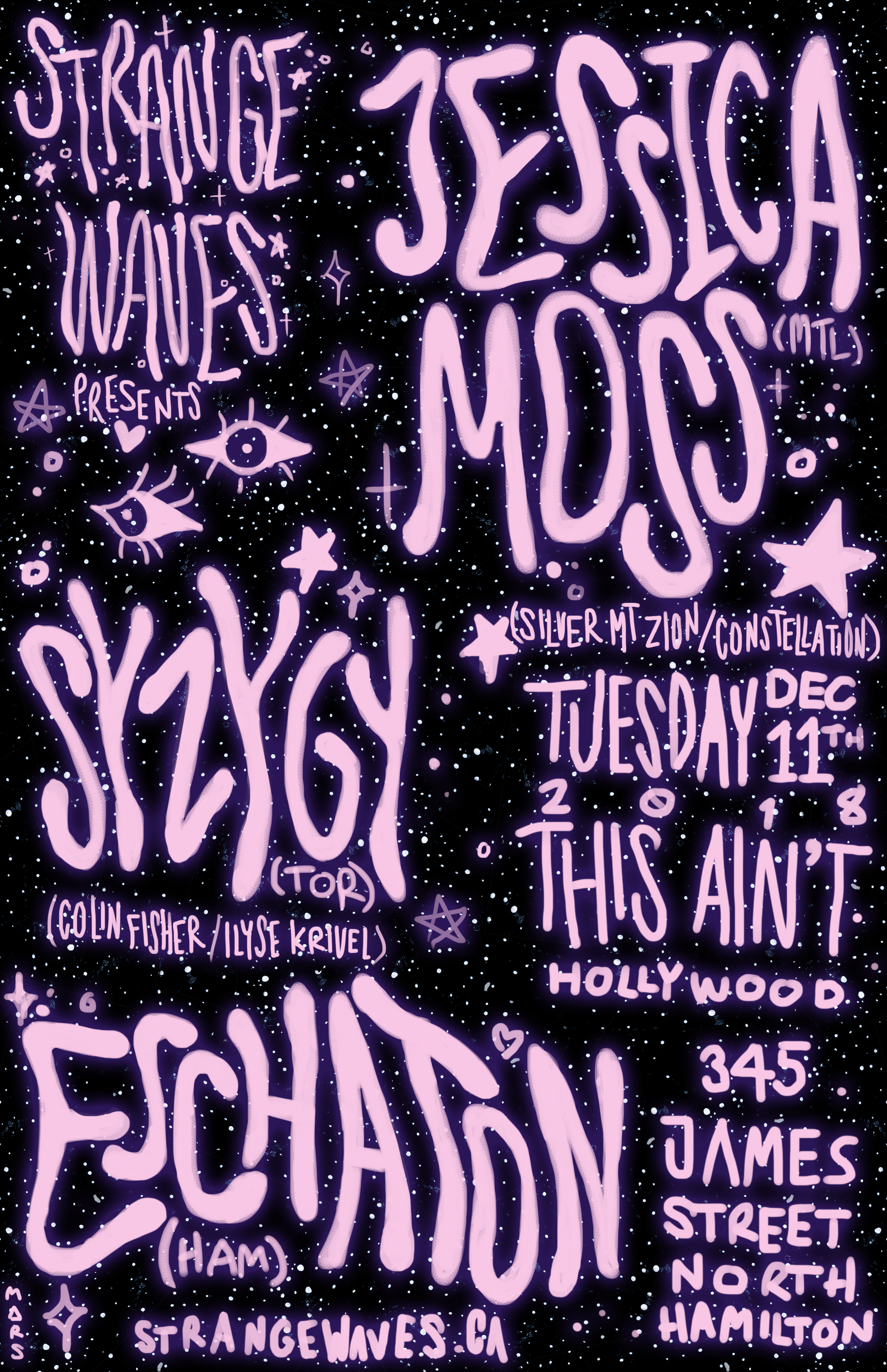 Jessica Moss w/ Syzygy & Eschaton  @This Ain't Hollywood
