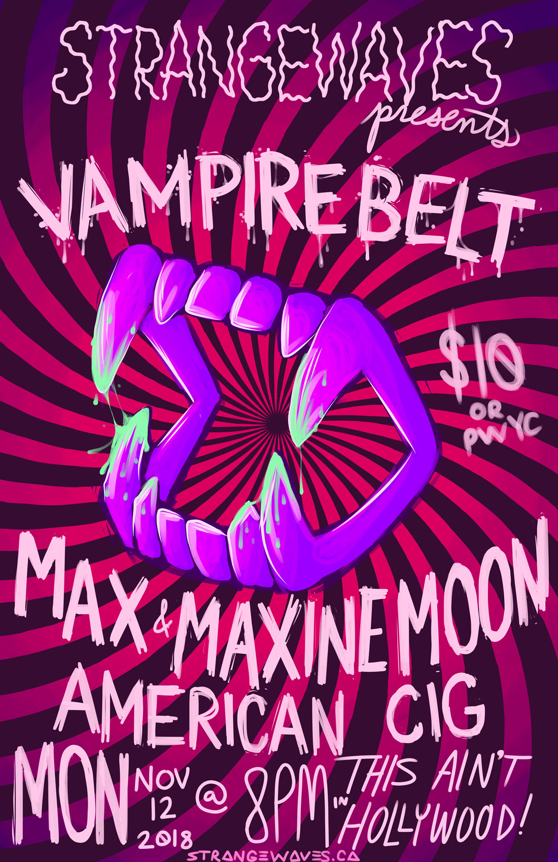 Vampire Belt (Corsano/Nace), Max & Maxine Moon, American Cig  @This Ain't Hollywood