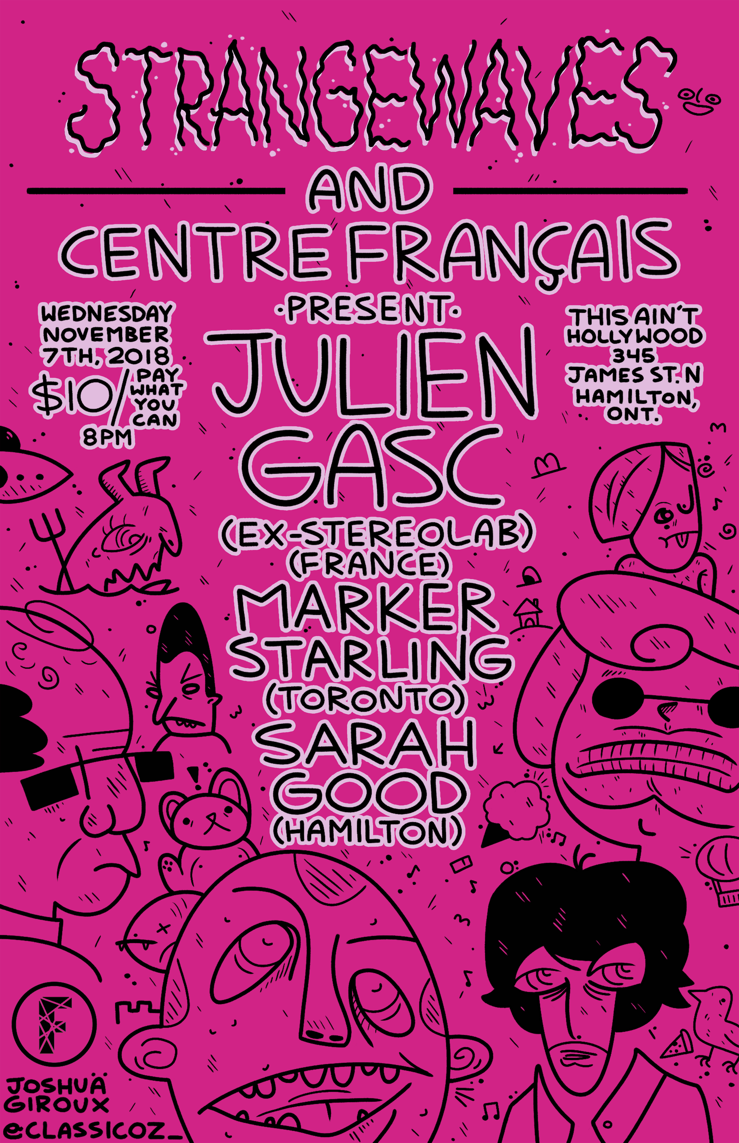 Julien Gasc(fmr Stereolab) Marker Starling & Sarah Good  @This Ain't Hollywood