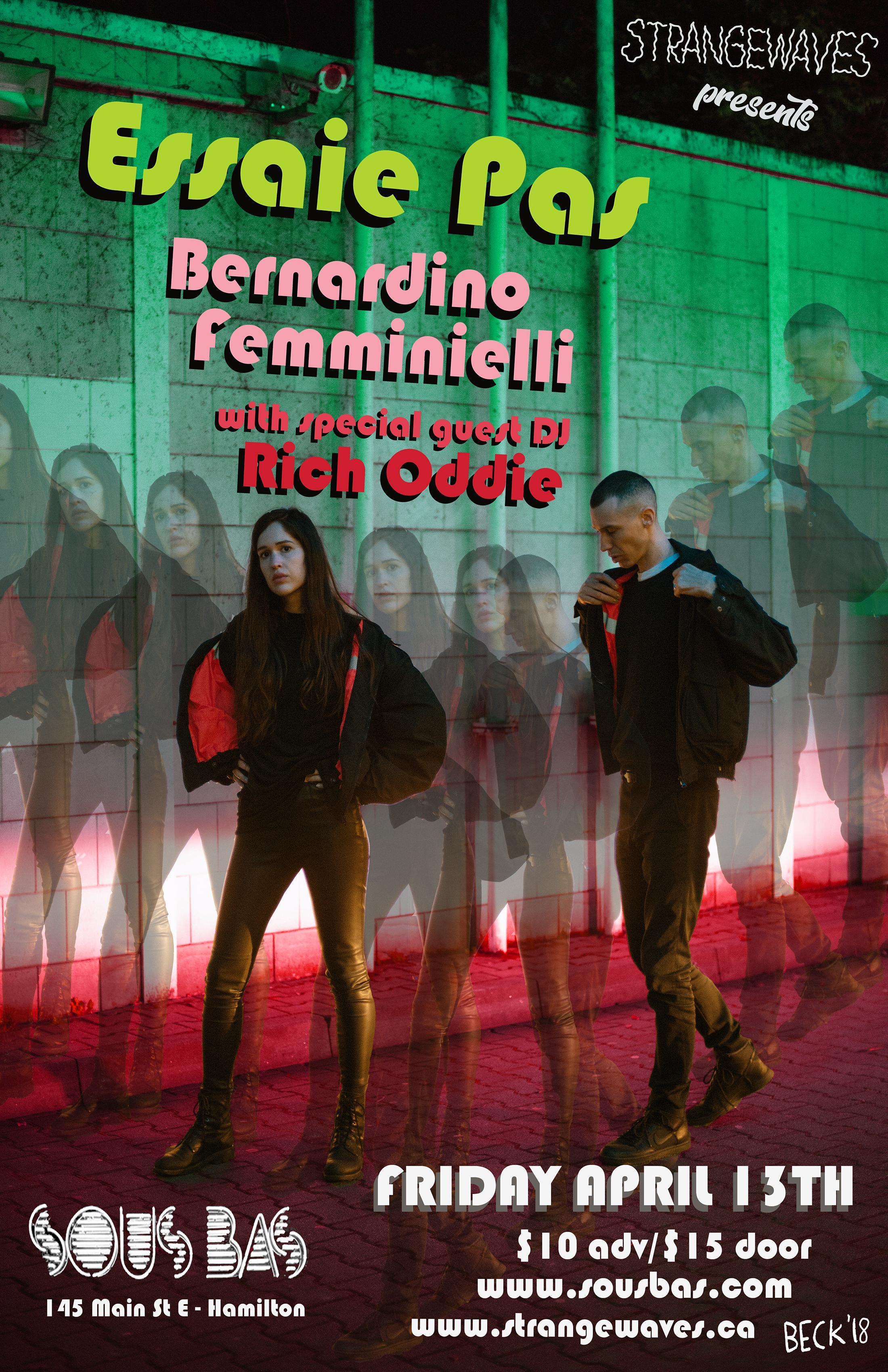 Essaie Pas, Bernardino Femminielli, Rich Oddie  @Sous Bas