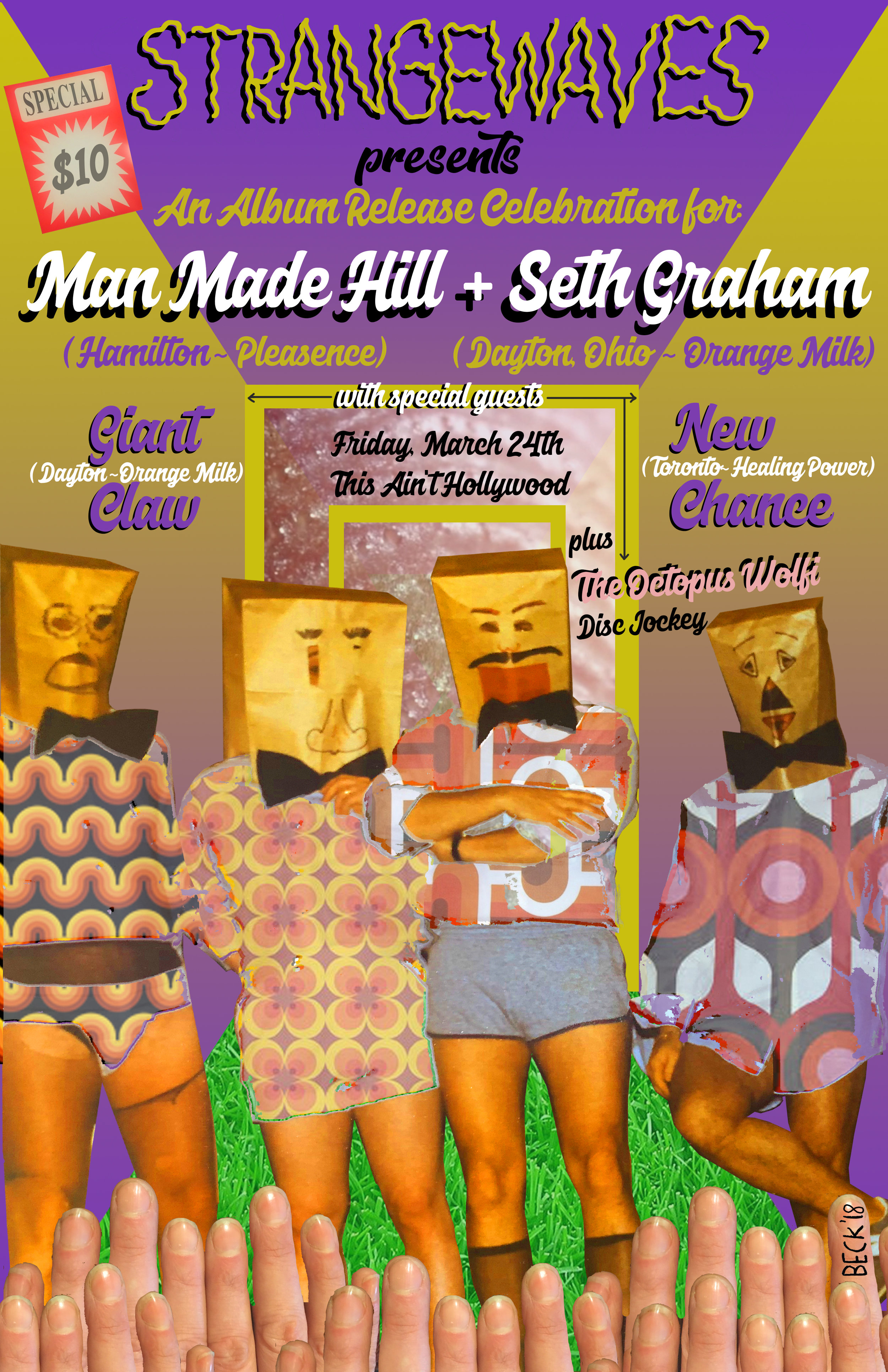 MAN MADE HILL ALBUM RELEASE W/ SETH GRAHAM, GIANT CLAW, NEW CHANCE  @This Ain't Hollywood