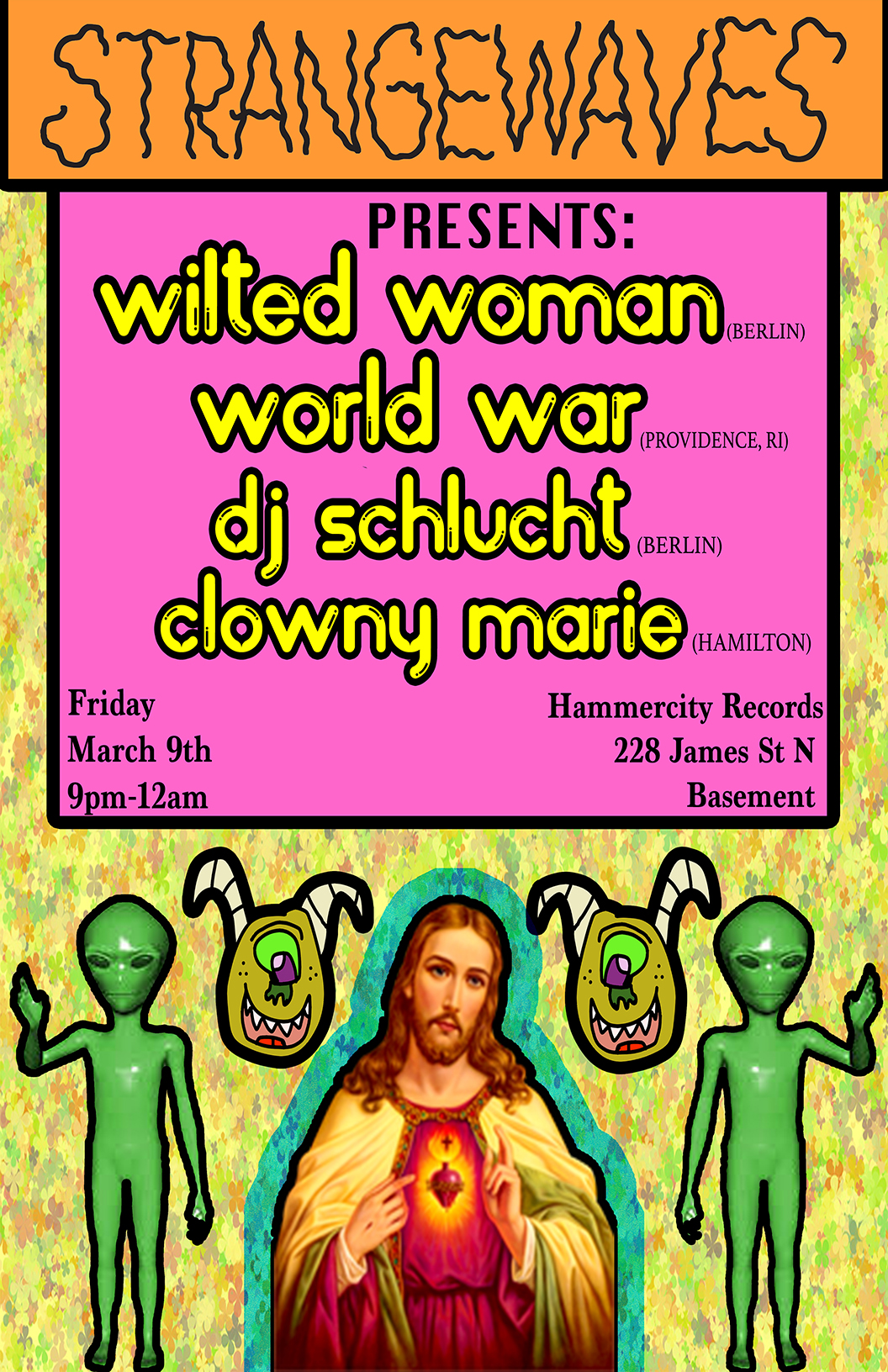 Wilted Woman (Berlin), World War, DJ Schlucht, Clowny Marie  @Hammer City Records