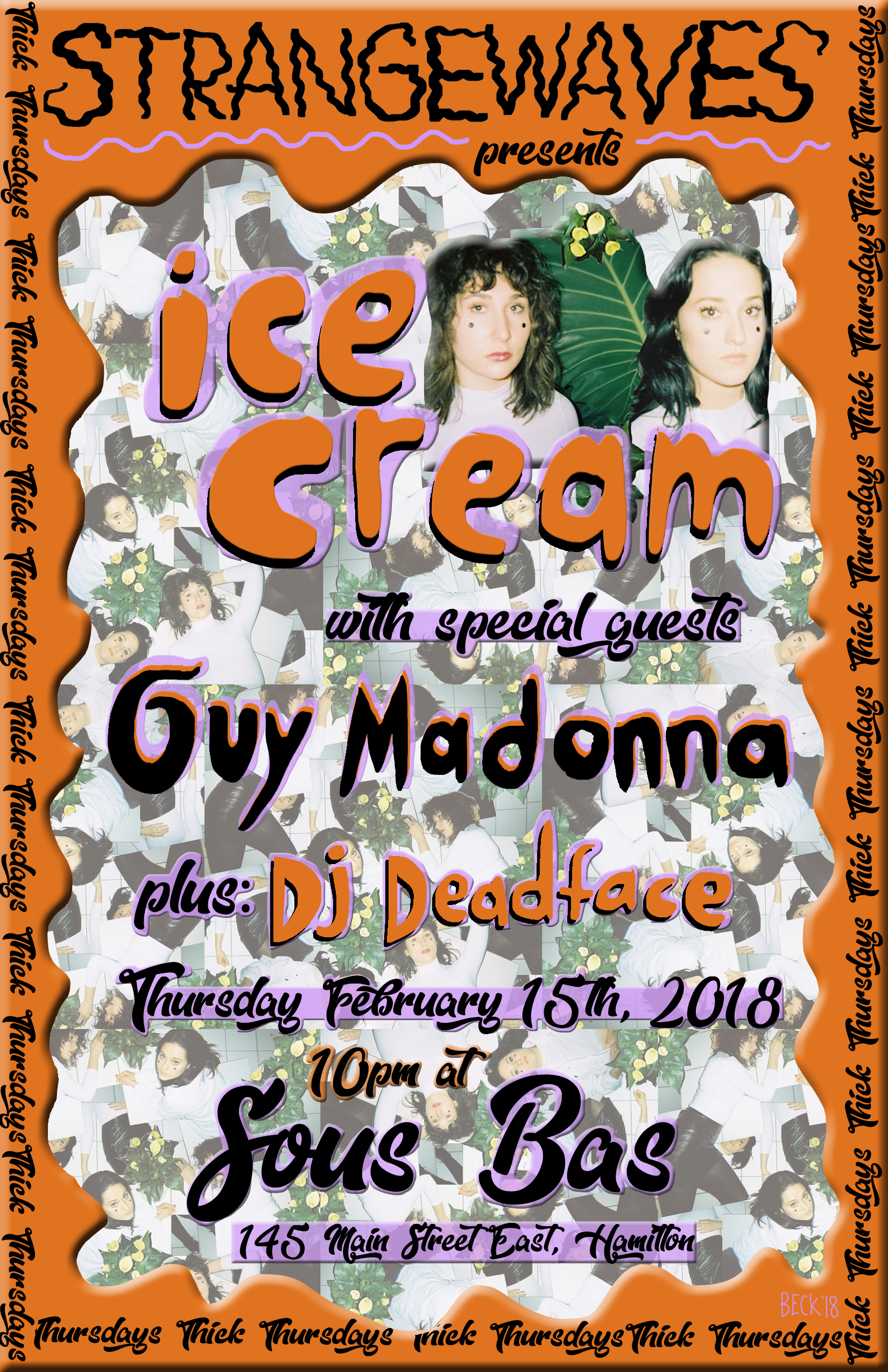 THICK Thursday #2: Ice Cream, Guy Madonna, DJ Deadface  @Sous Bas