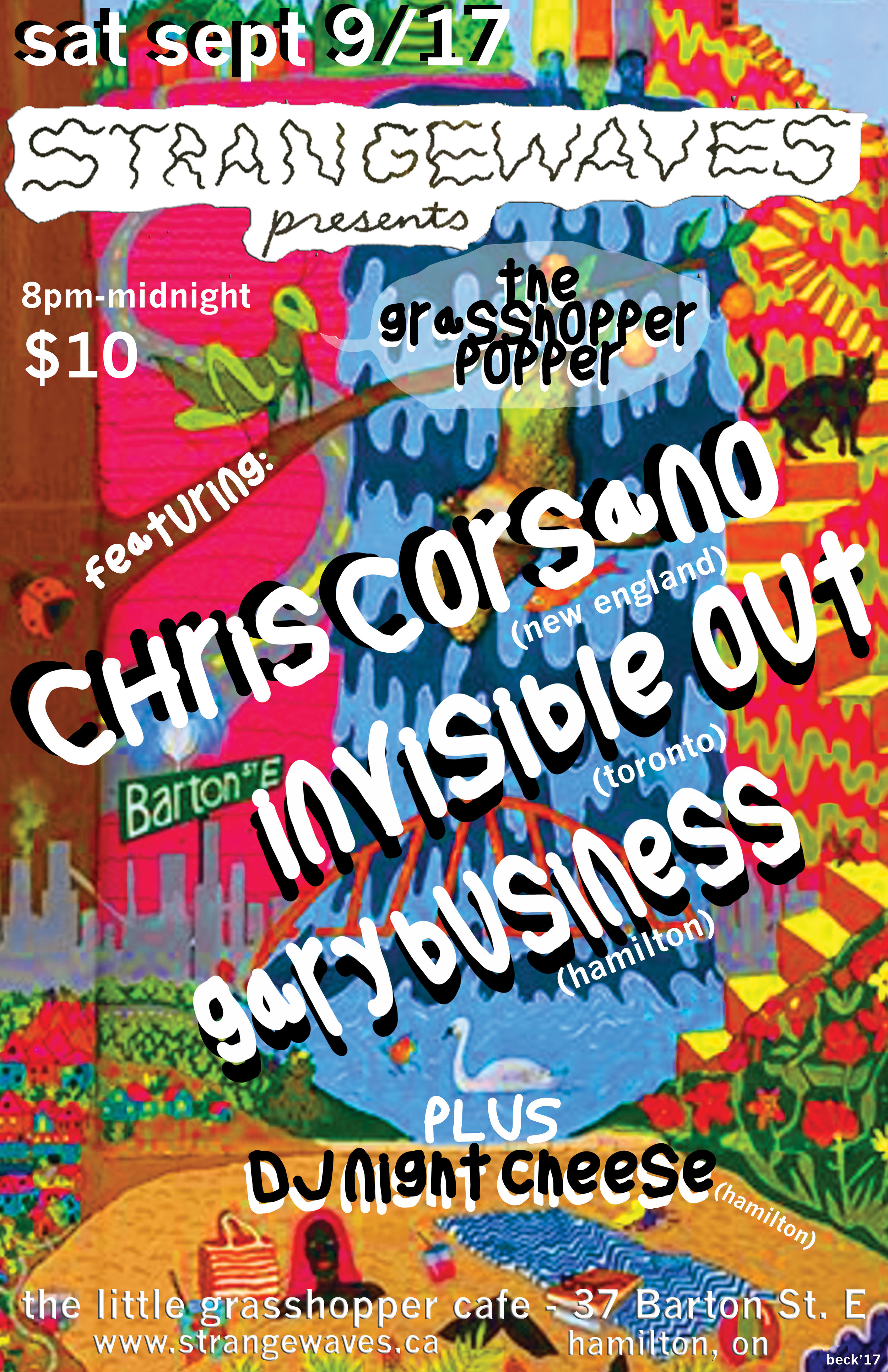 Chris Corsano, Invisible Out, Gary Business  @The Little Grasshopper Cafe
