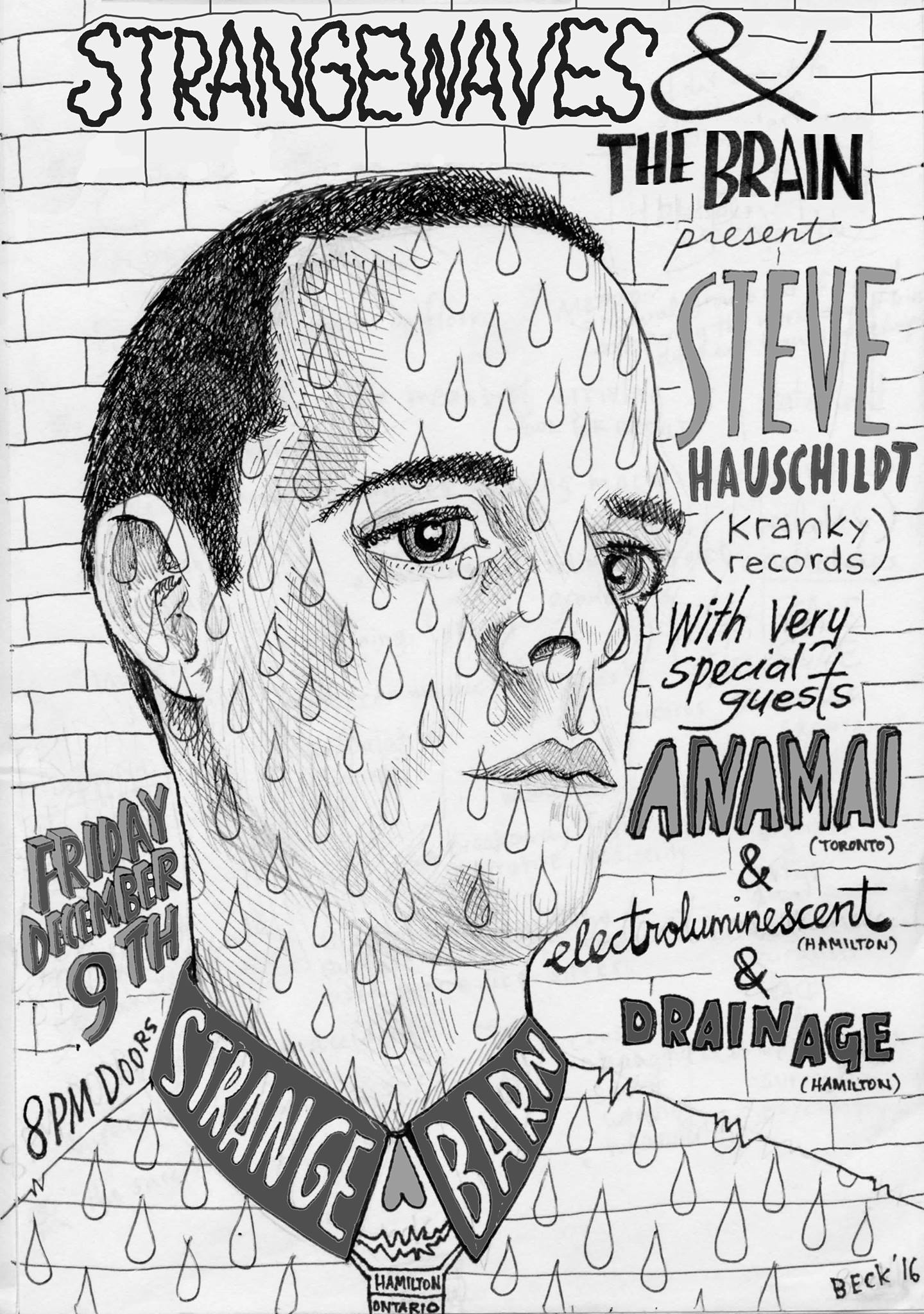 Steve Hauschildt (Kranky), Anamai, Electroluminescent, Drain Age  @Strangebarn