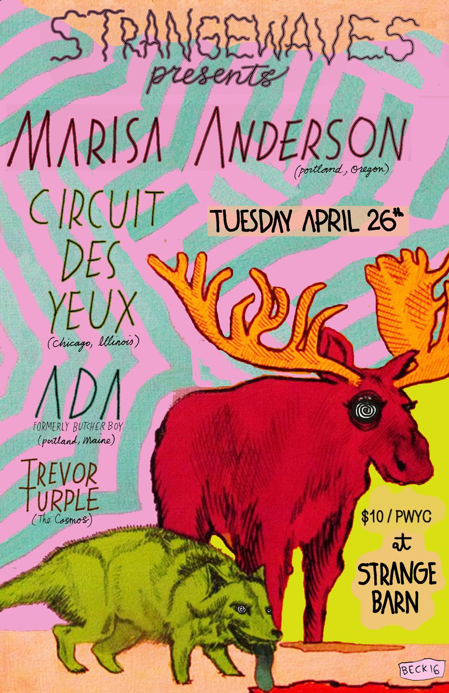 Marisa Anderson, Circuit des Yeux, Ada, Trevor Turple  @Strangebarn