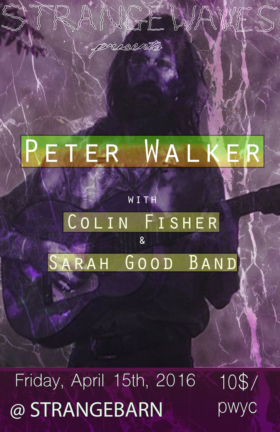 Peter Walker (Vanguard Guitar Legend) / Colin Fisher / Sarah Good  @Strangebarn