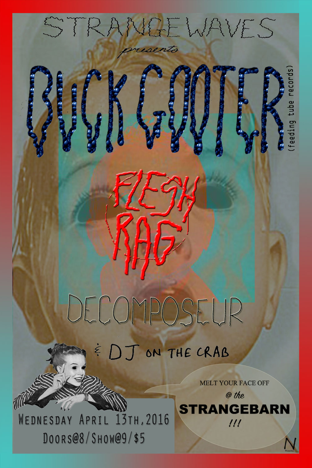 Buck Gooter (VA) / Flesh Rag / Decomposeur  @Strangebarn