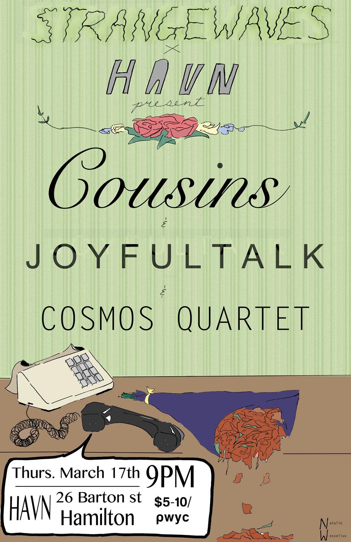Cousins / Joyfultalk / Cosmos Quartet  @HAVN
