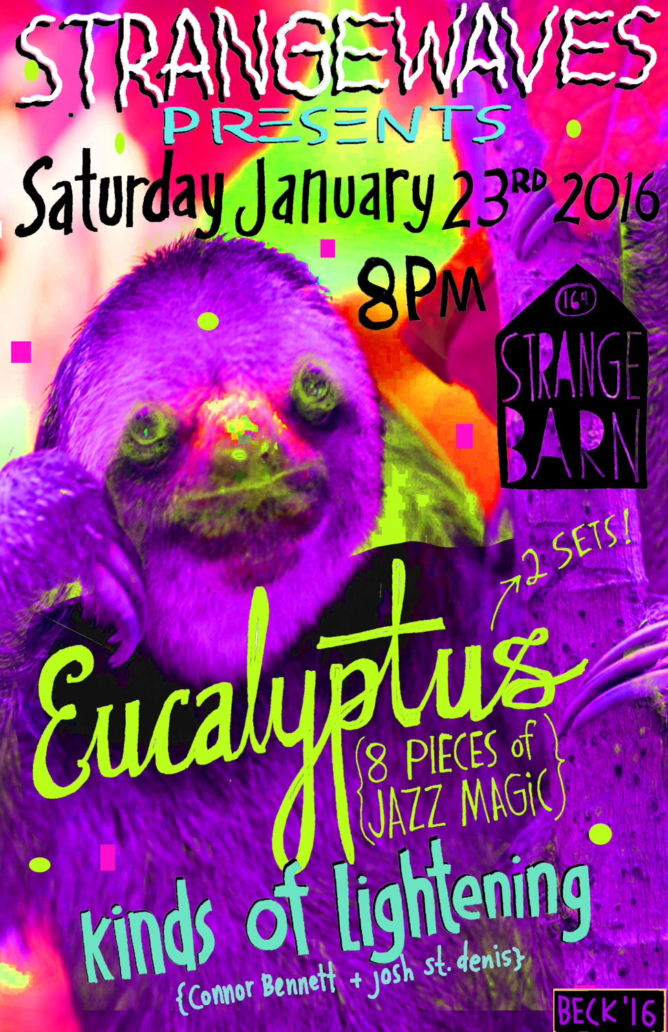 Strangewaves presents Eucalyptus w/ Kinds of Lightening  @Strangebarn